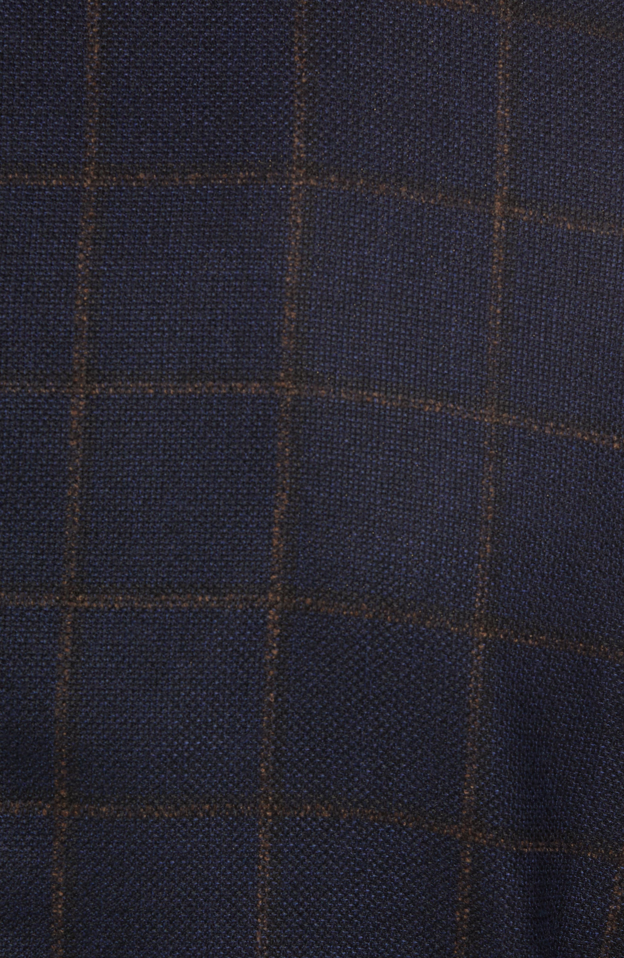 Edge 2 Classic Fit Windowpane Wool Sport Coat,                             Alternate thumbnail 6, color,                             410