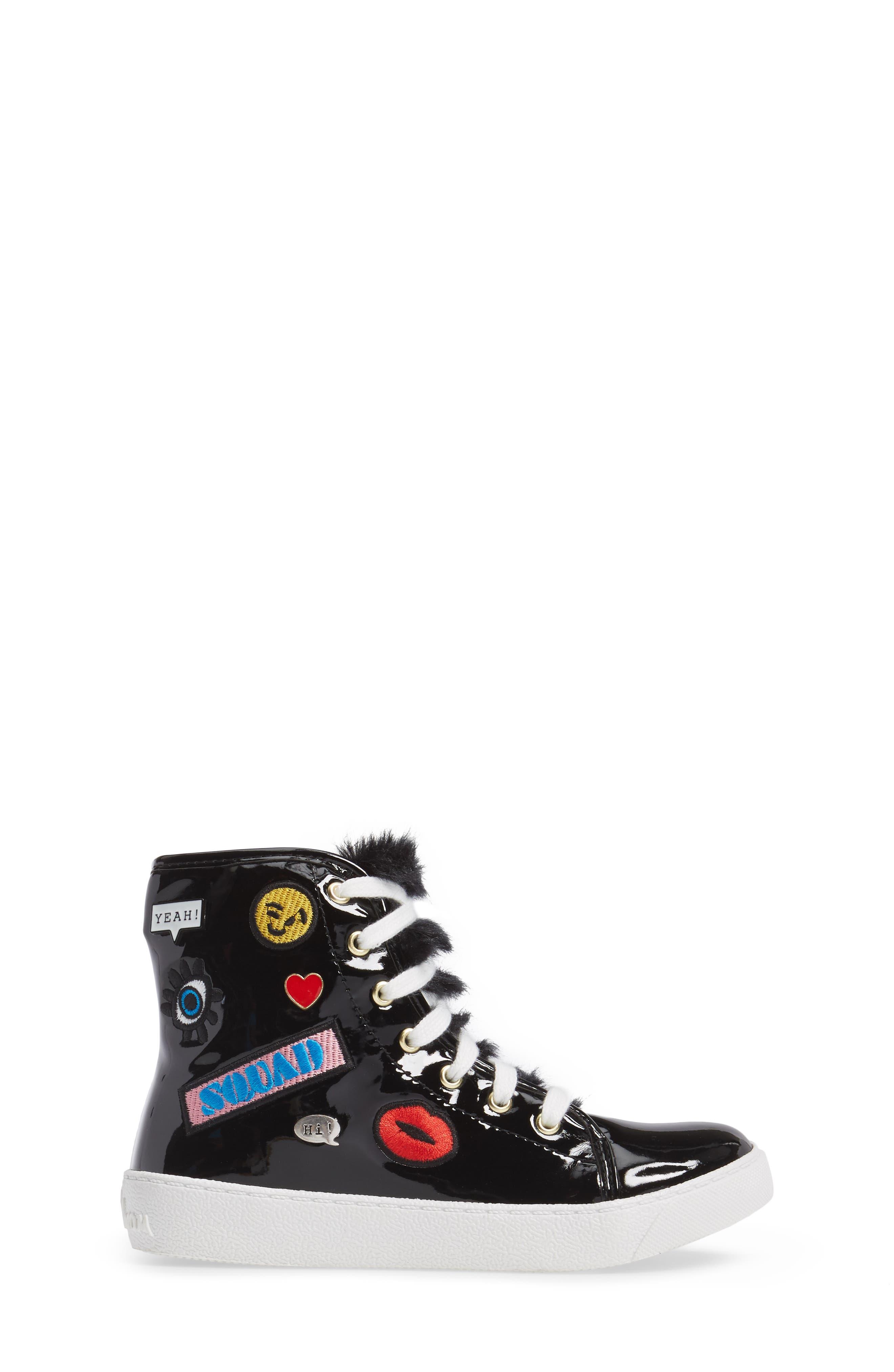 Harriet Heidi High-Top Sneaker,                             Alternate thumbnail 3, color,                             001