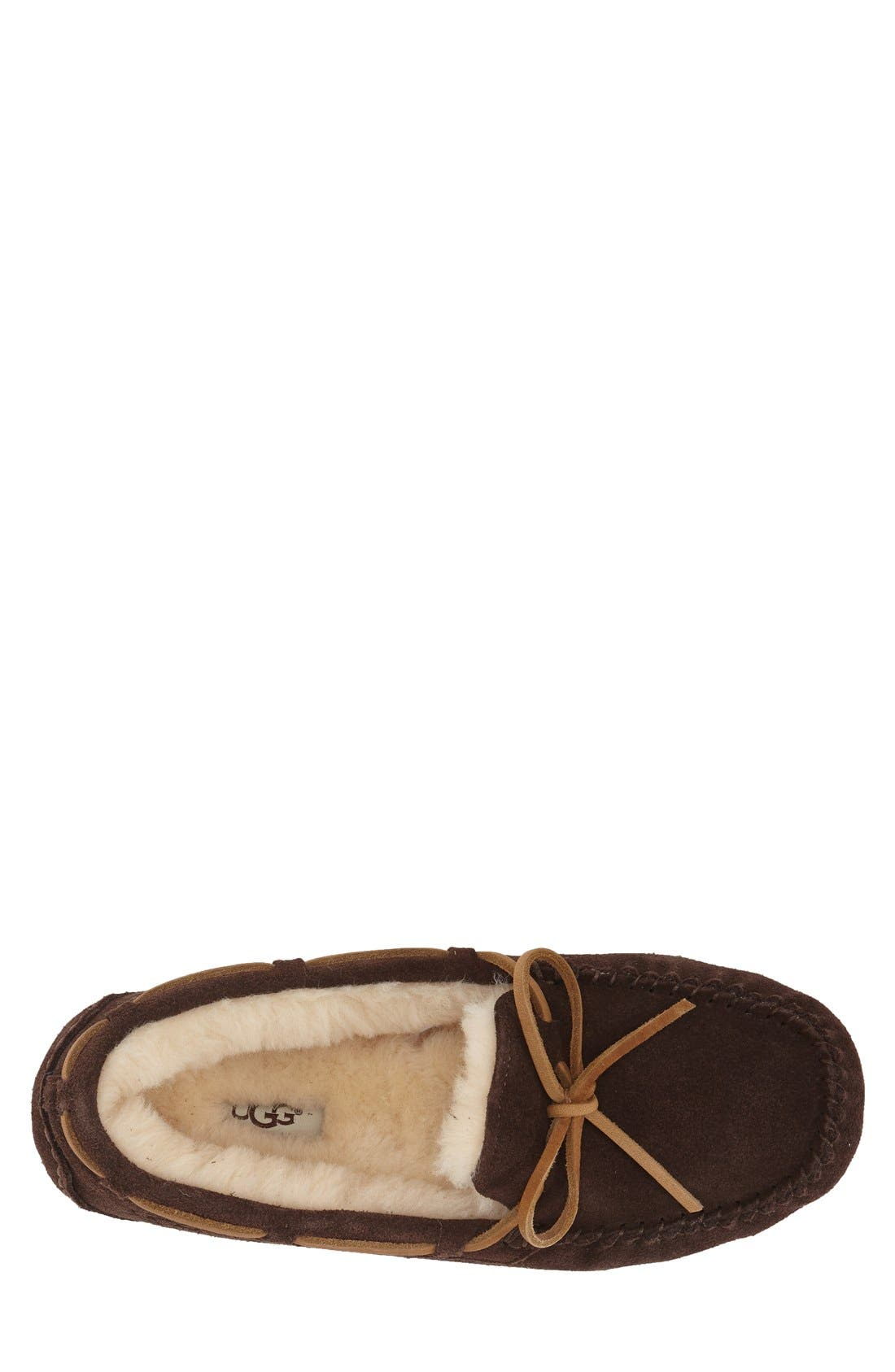UGG<SUP>®</SUP>,                             'Olsen' Moccasin Slipper,                             Alternate thumbnail 2, color,                             ESPRESSO