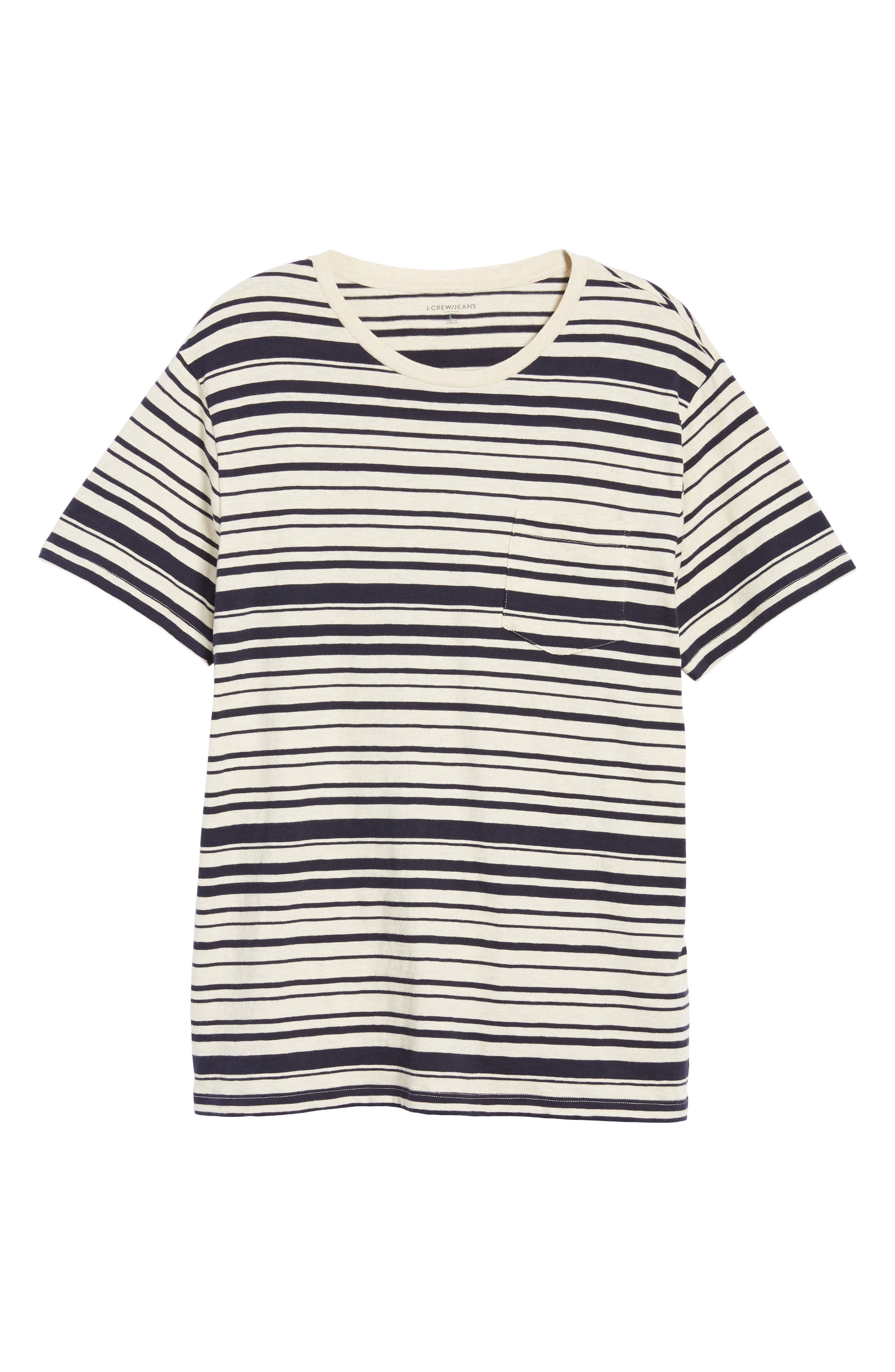 Variegated Stripe Slub Cotton T-Shirt,                             Alternate thumbnail 6, color,                             400