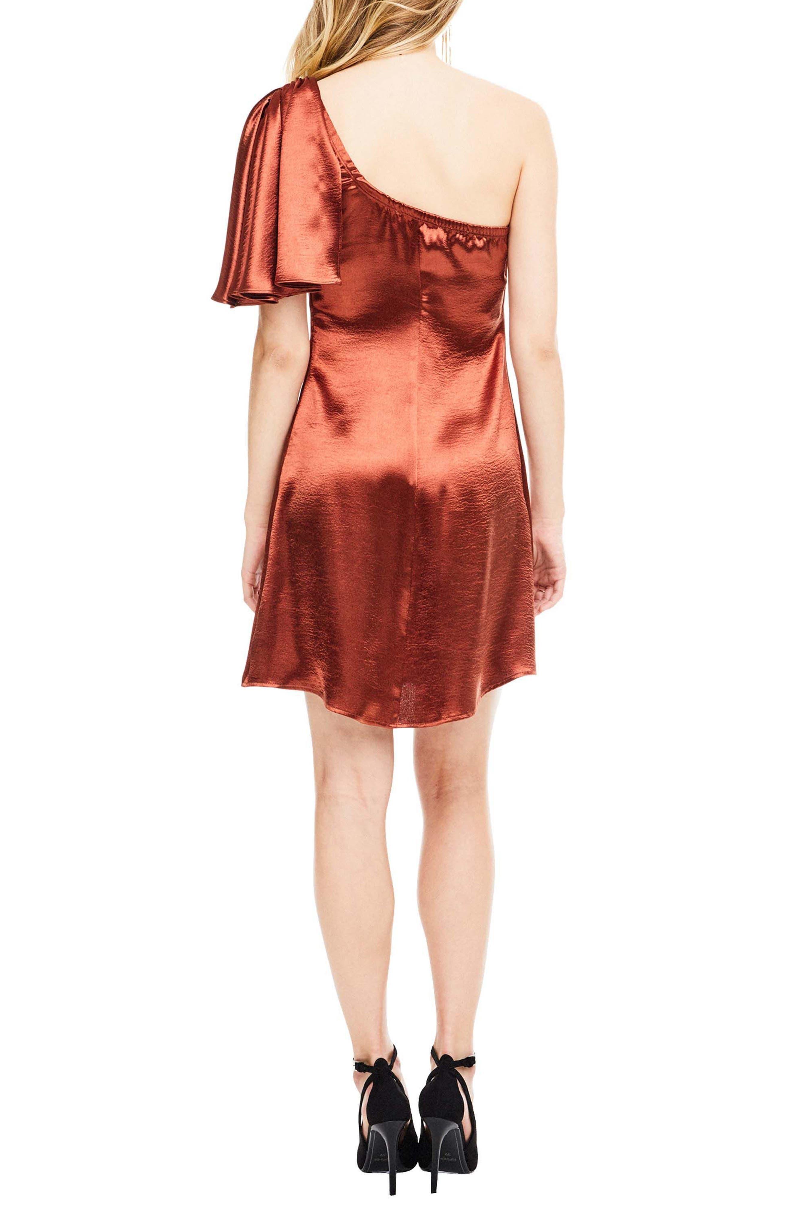 Crystalyn One Shoulder Minidress,                             Alternate thumbnail 2, color,                             200