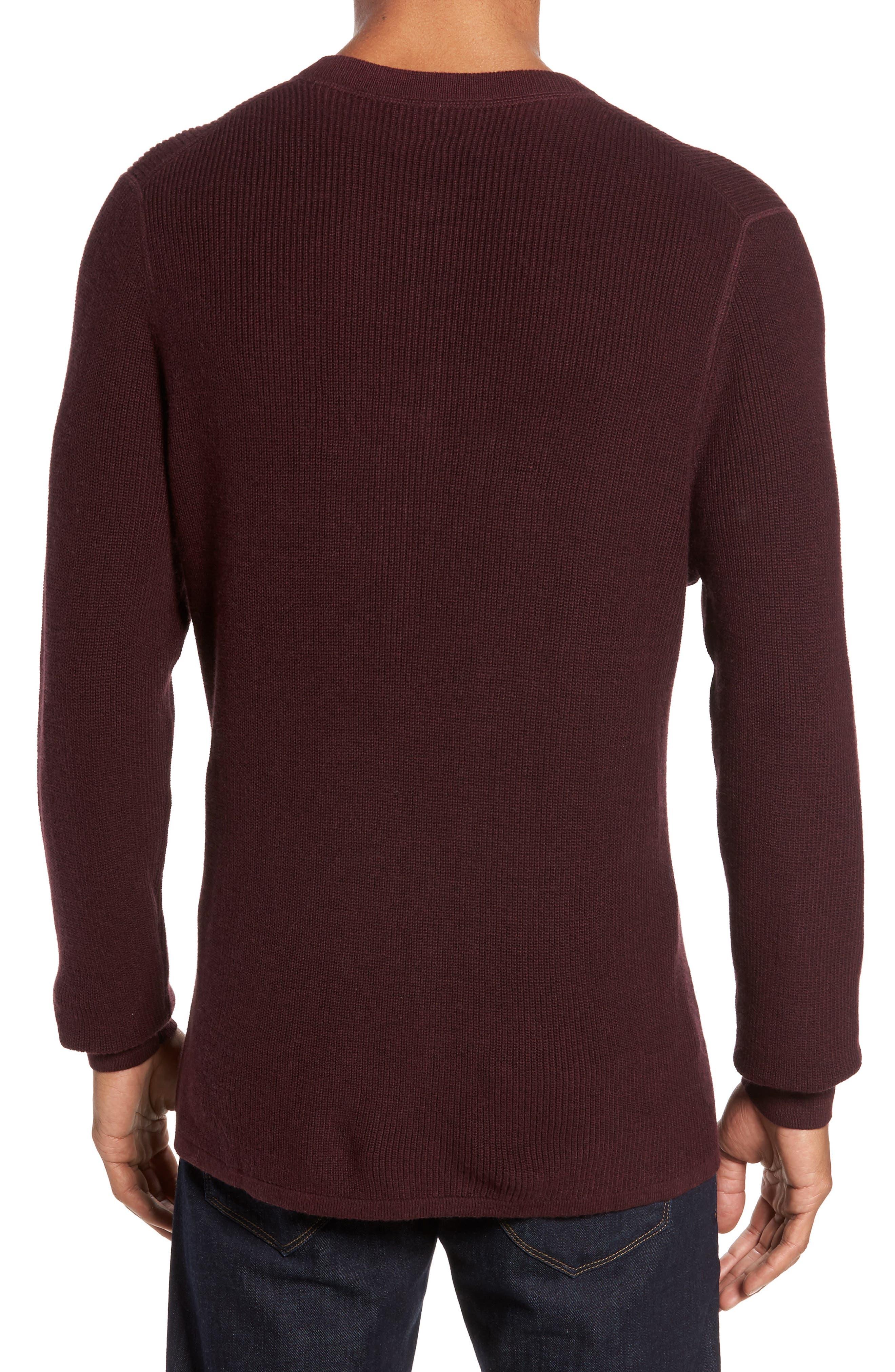 Cotton & Cashmere Henley Sweater,                             Alternate thumbnail 6, color,