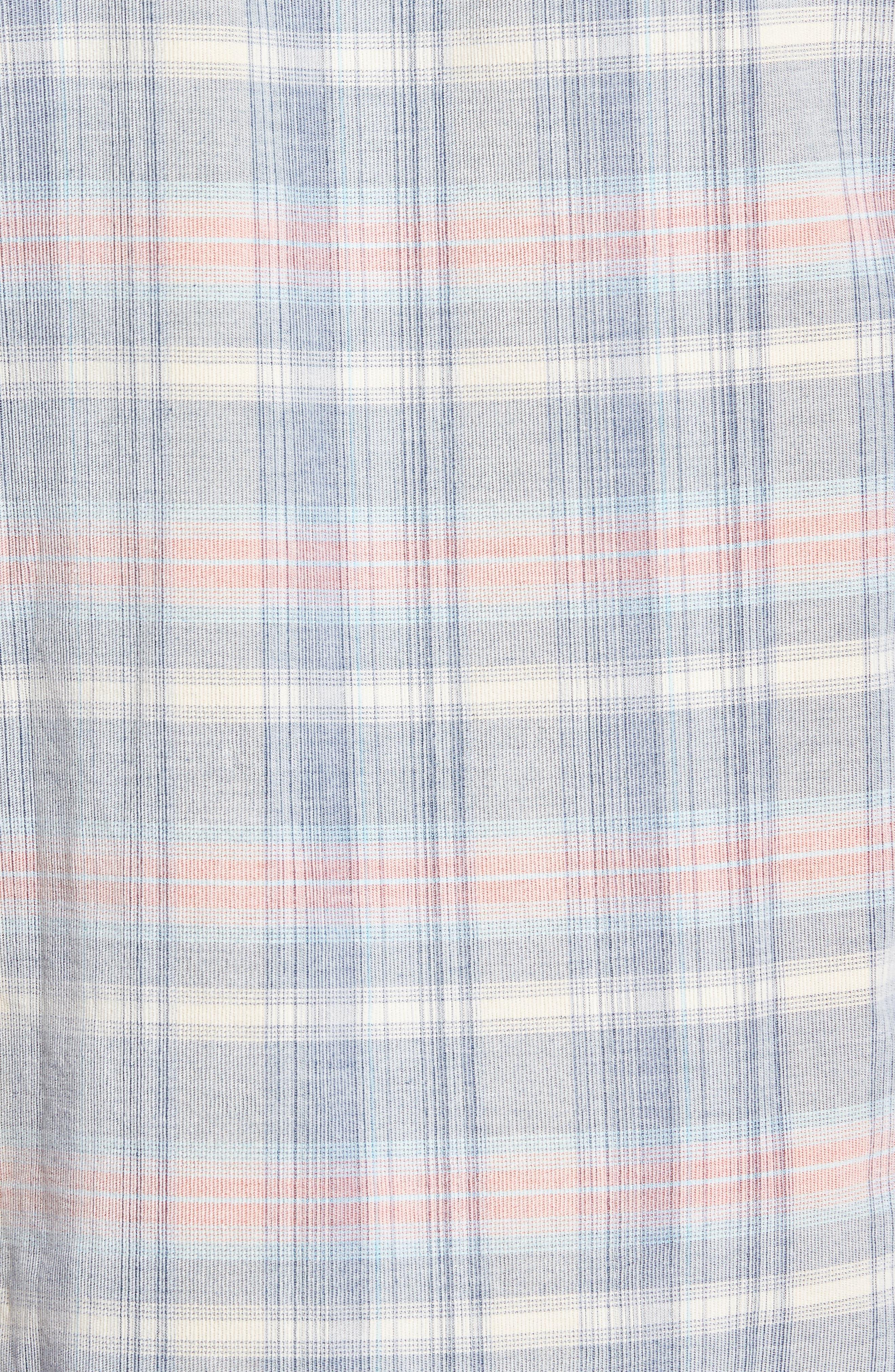 Cordwalk Plaid Plaid Sport Shirt,                             Alternate thumbnail 5, color,                             400