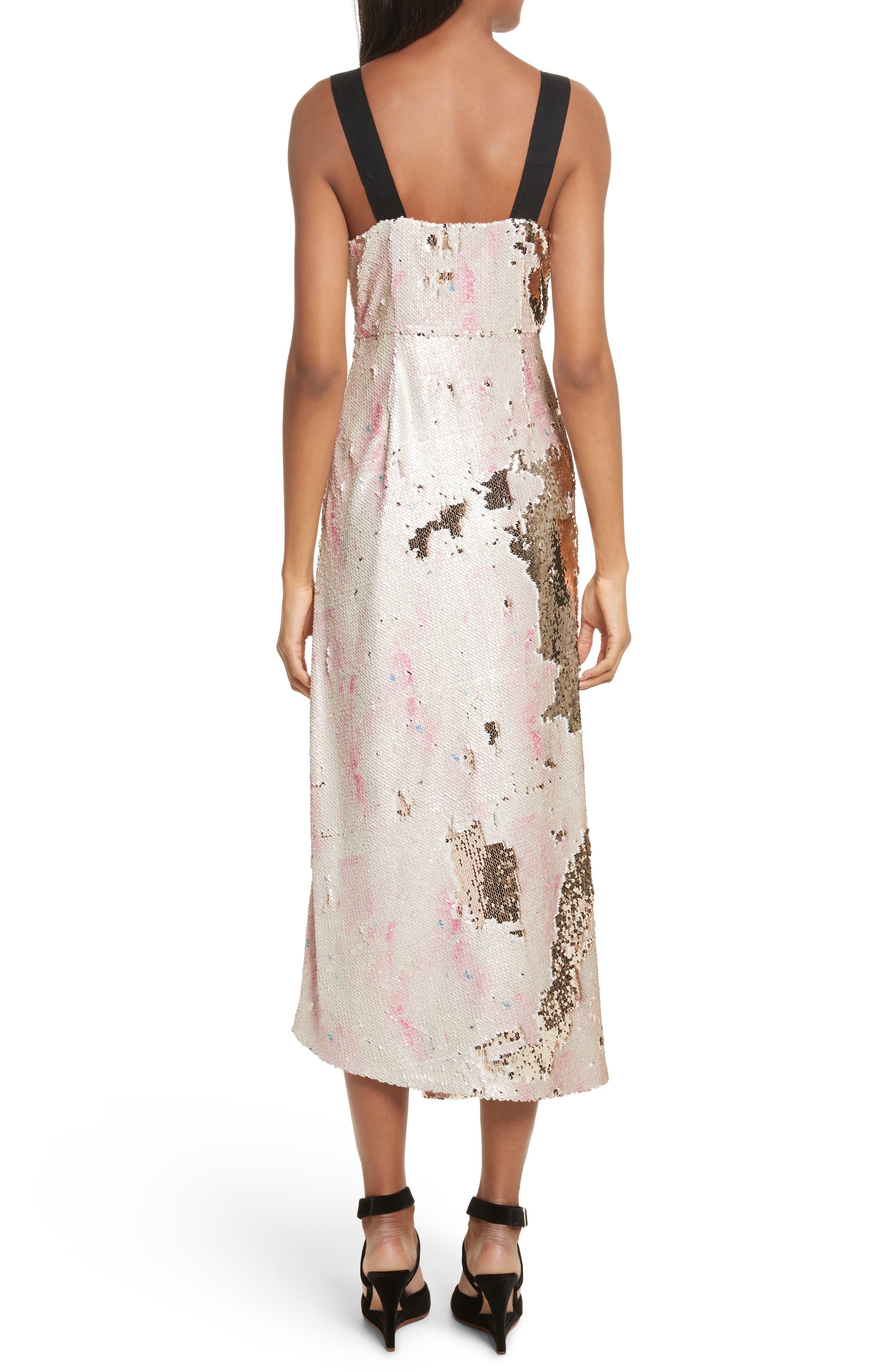 Slacken Sequined Dress,                             Alternate thumbnail 2, color,                             658