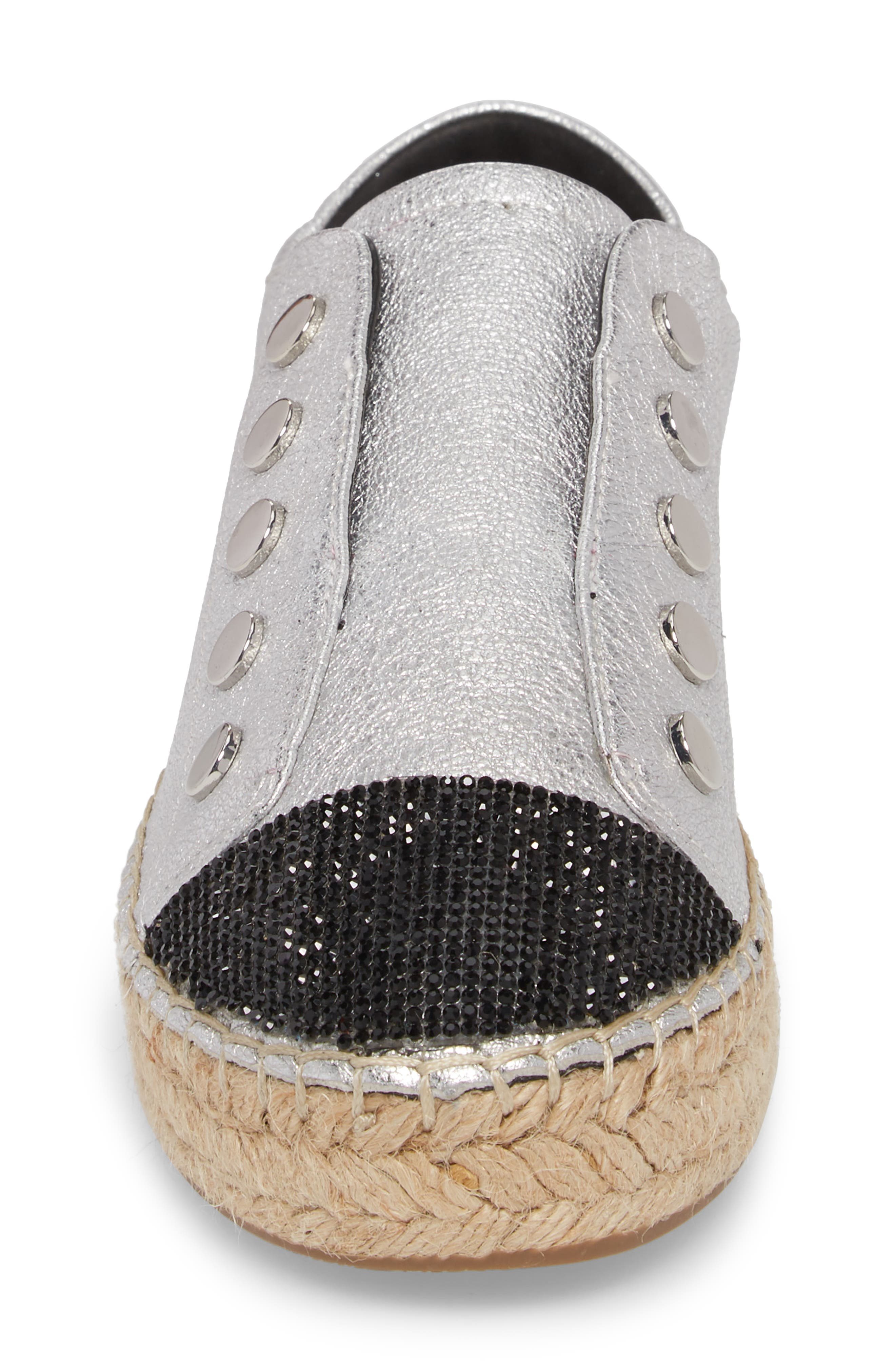 Juniper Espadrille Sneaker,                             Alternate thumbnail 4, color,                             SILVER