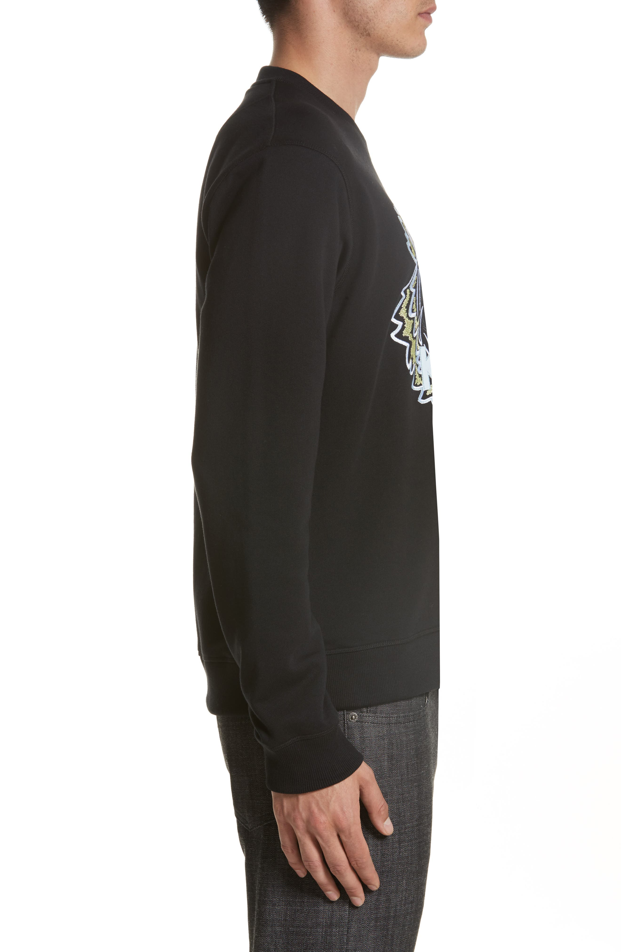 Embroidered Graphic Sweatshirt,                             Alternate thumbnail 3, color,                             001