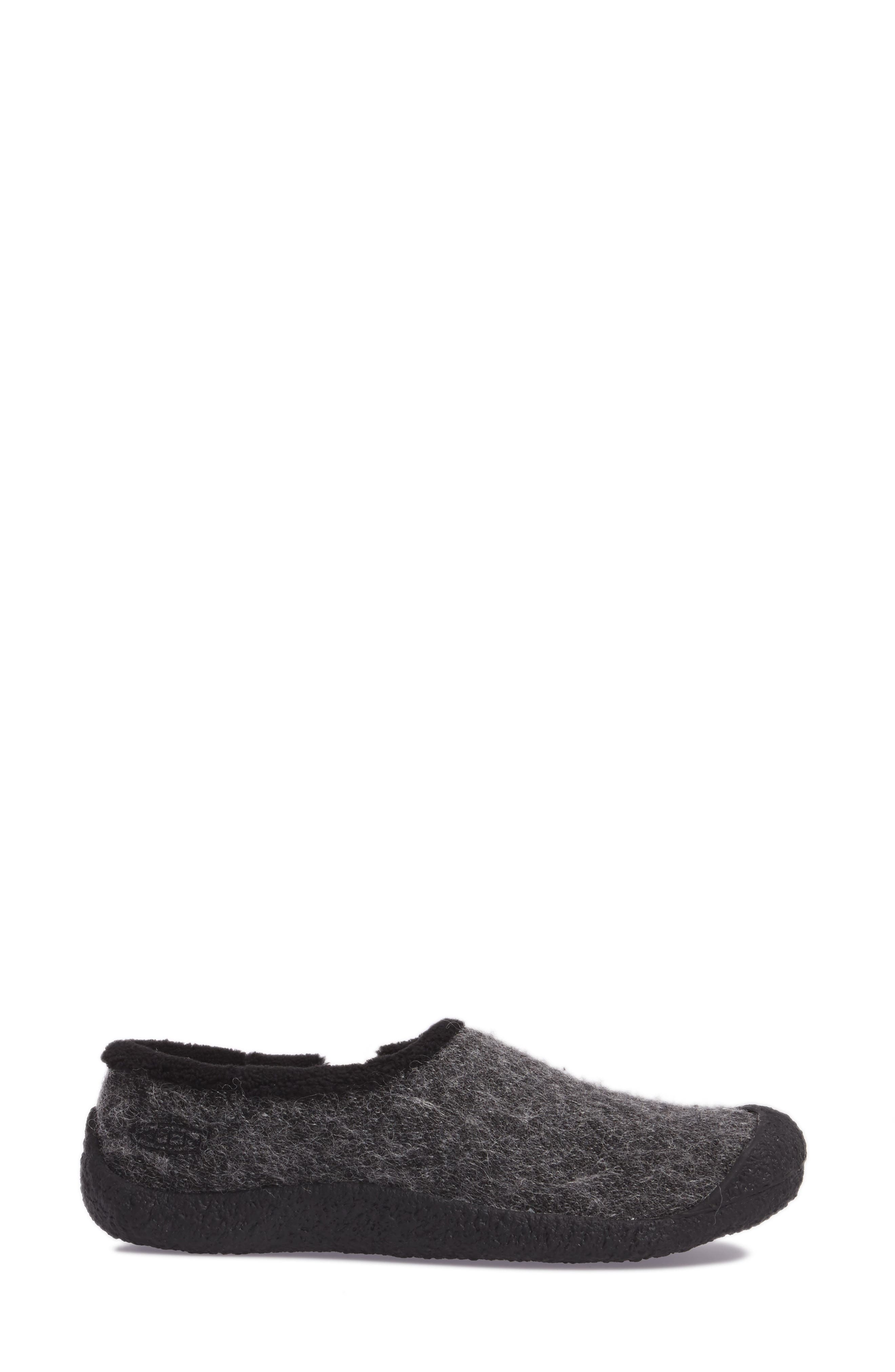 Howser Round Toe Wool Slip-on,                             Alternate thumbnail 3, color,                             001