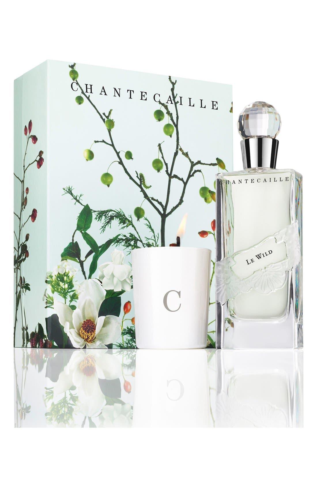 CHANTECAILLE,                             Le Wild Eau de Parfum & Candle Set,                             Main thumbnail 1, color,                             000