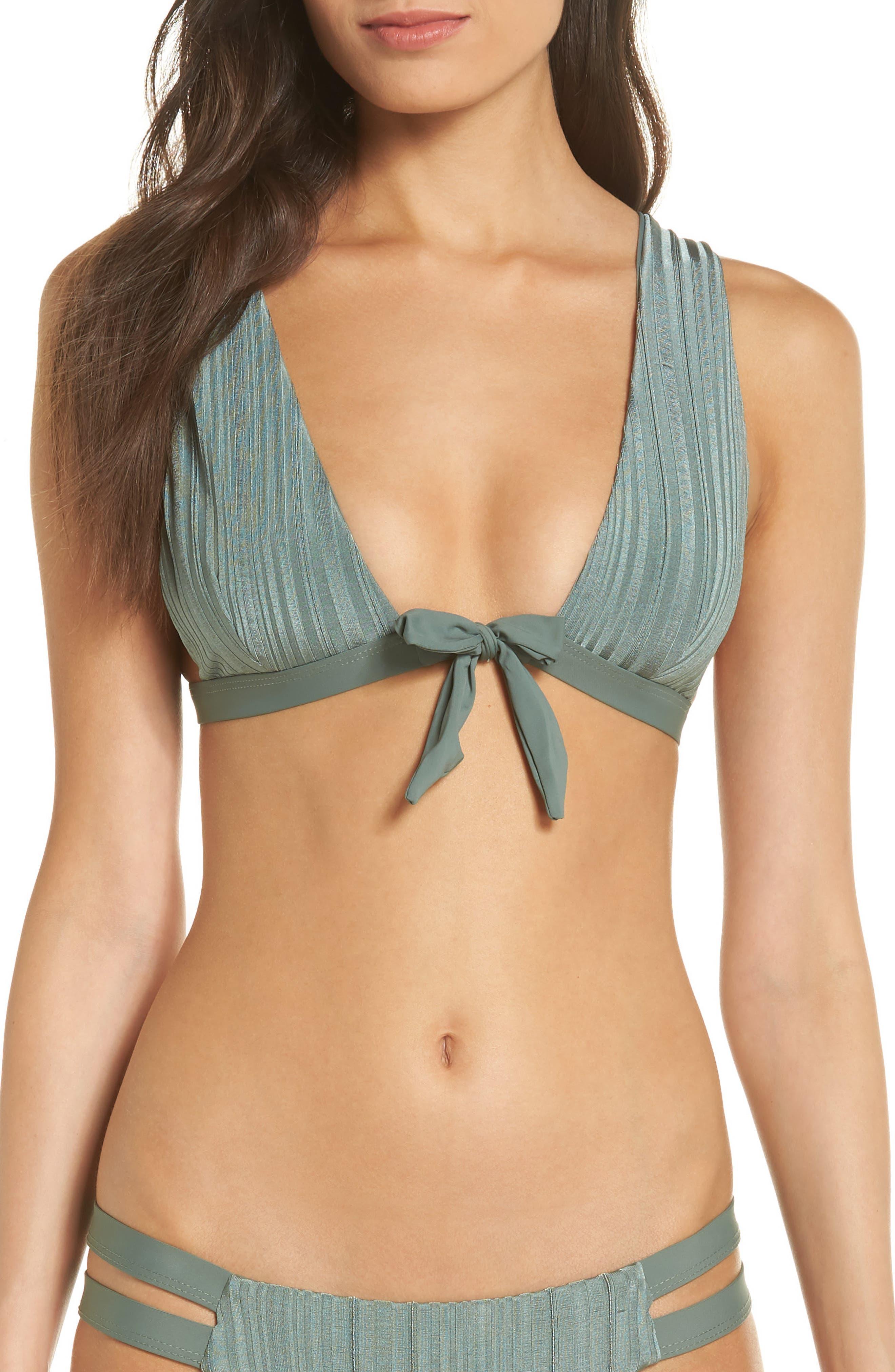 Tavik Caroline Bikini Top, Green