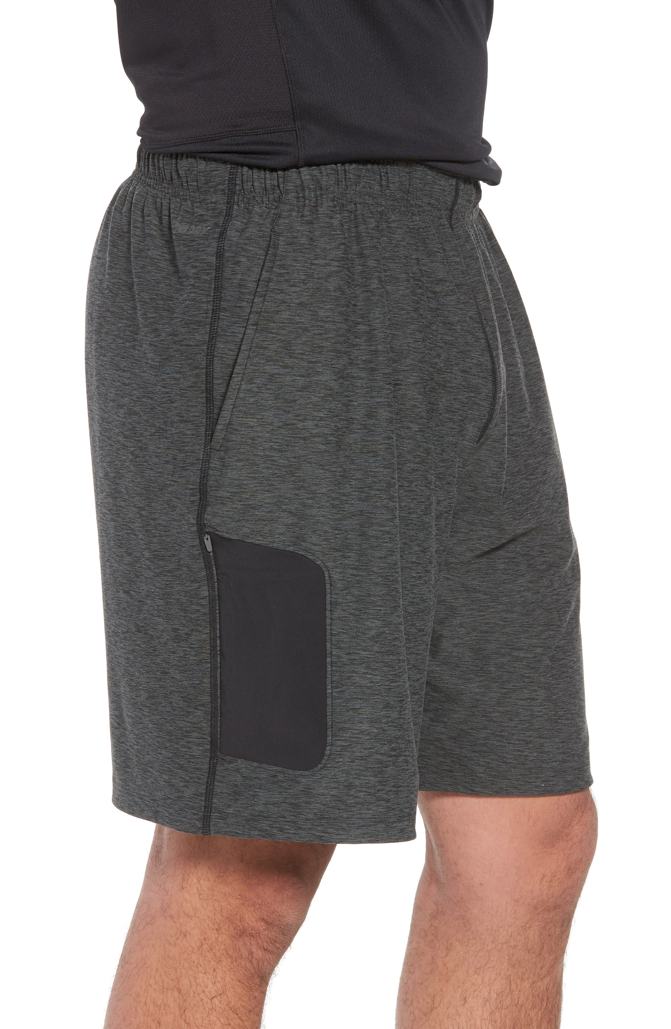 Anticipate Shorts,                             Alternate thumbnail 3, color,                             HEATHER CHARCOAL
