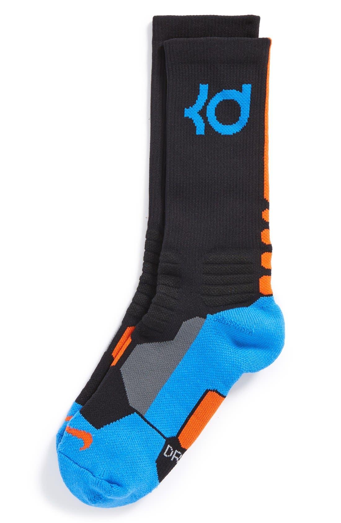 'KD Hyper Elite' Basketball Socks, Main, color, 008