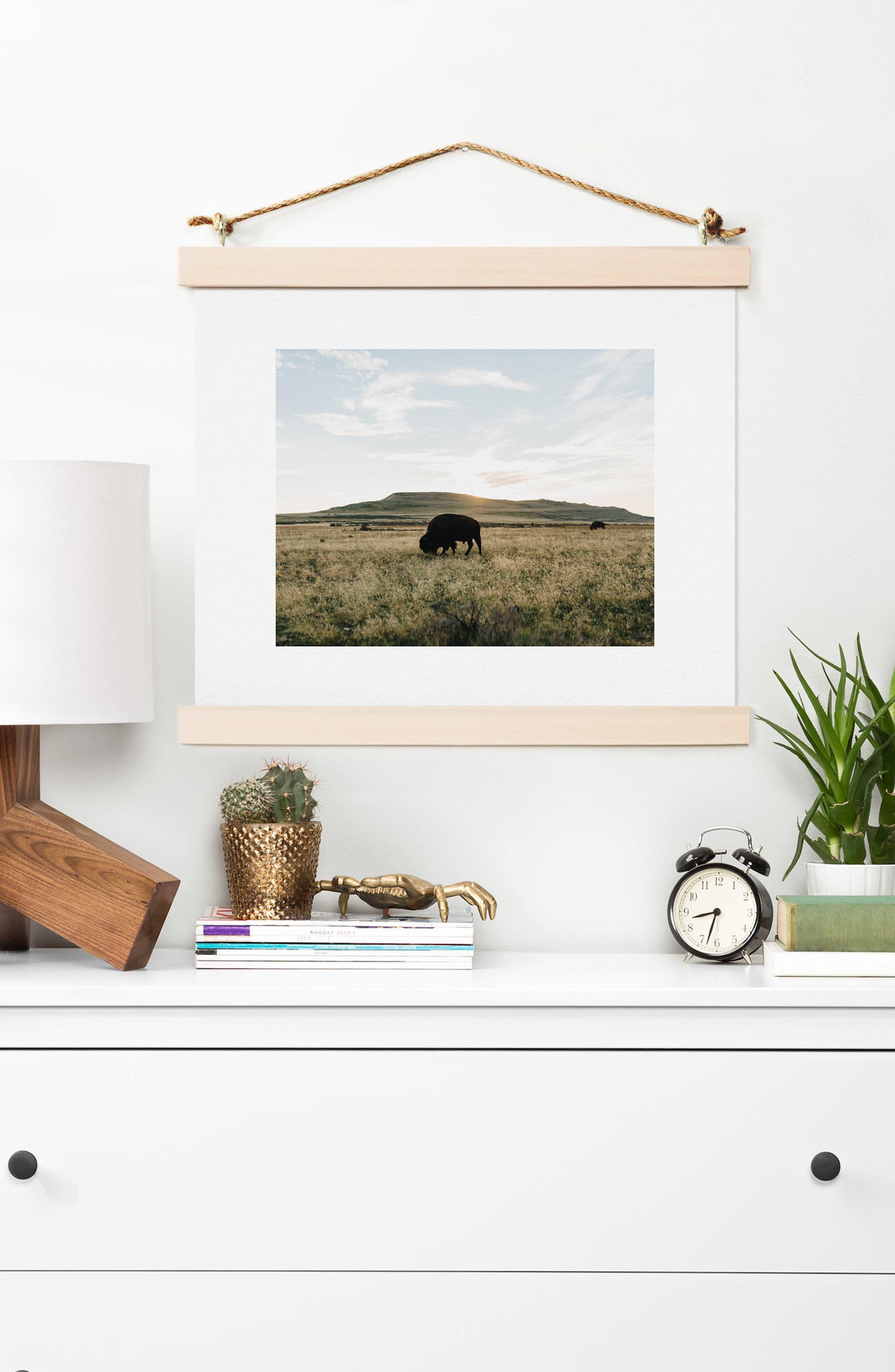 Buffalo Sunset Art Print,                             Alternate thumbnail 2, color,