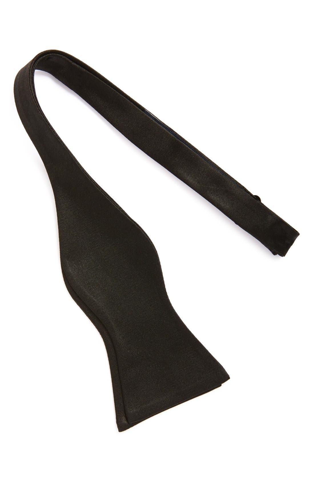 SilkBow Tie,                             Alternate thumbnail 2, color,                             BLACK