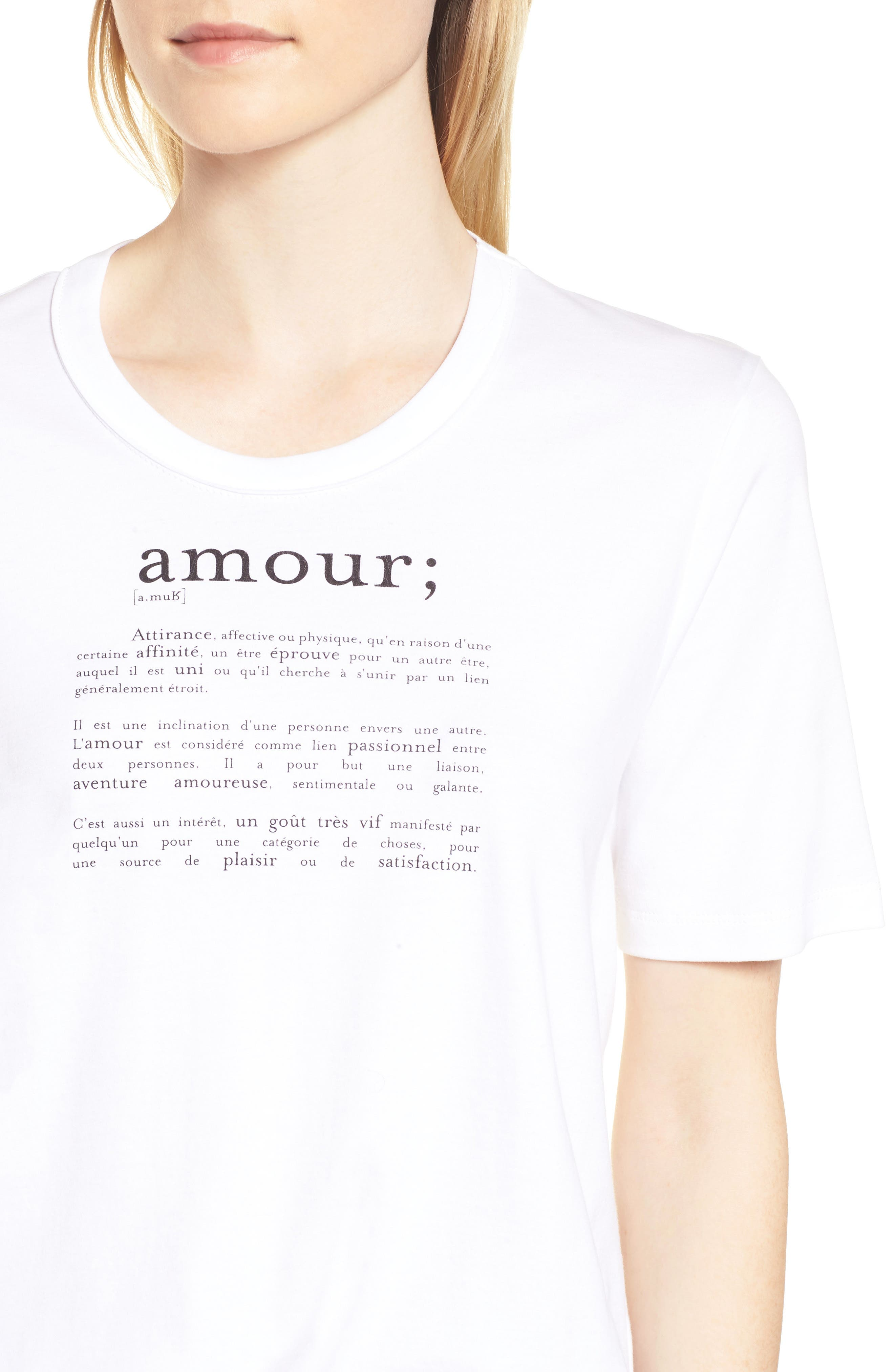 Ida Amour Tee,                             Alternate thumbnail 4, color,                             116