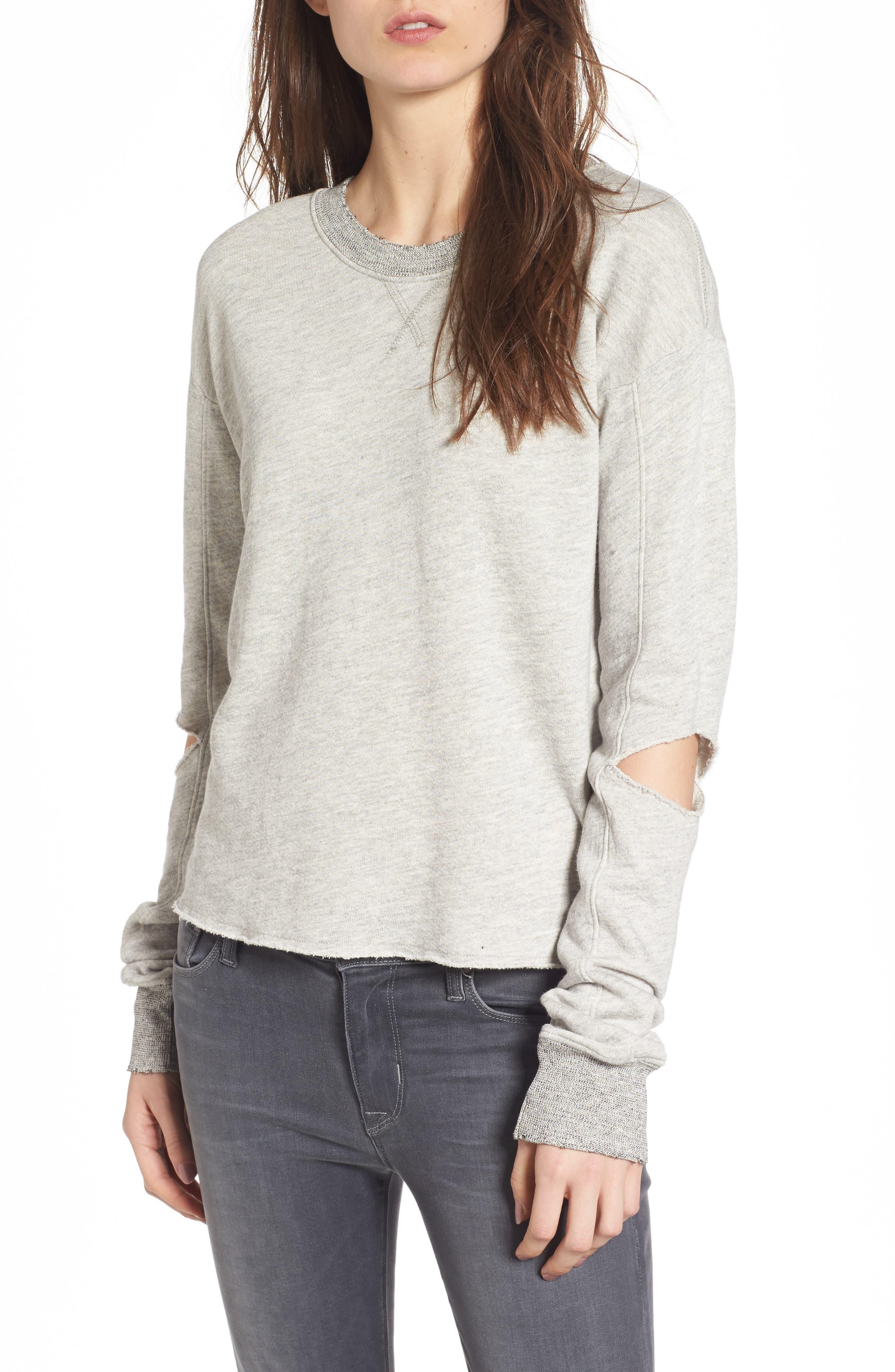Savannah Cutout Sweatshirt,                             Main thumbnail 1, color,                             030