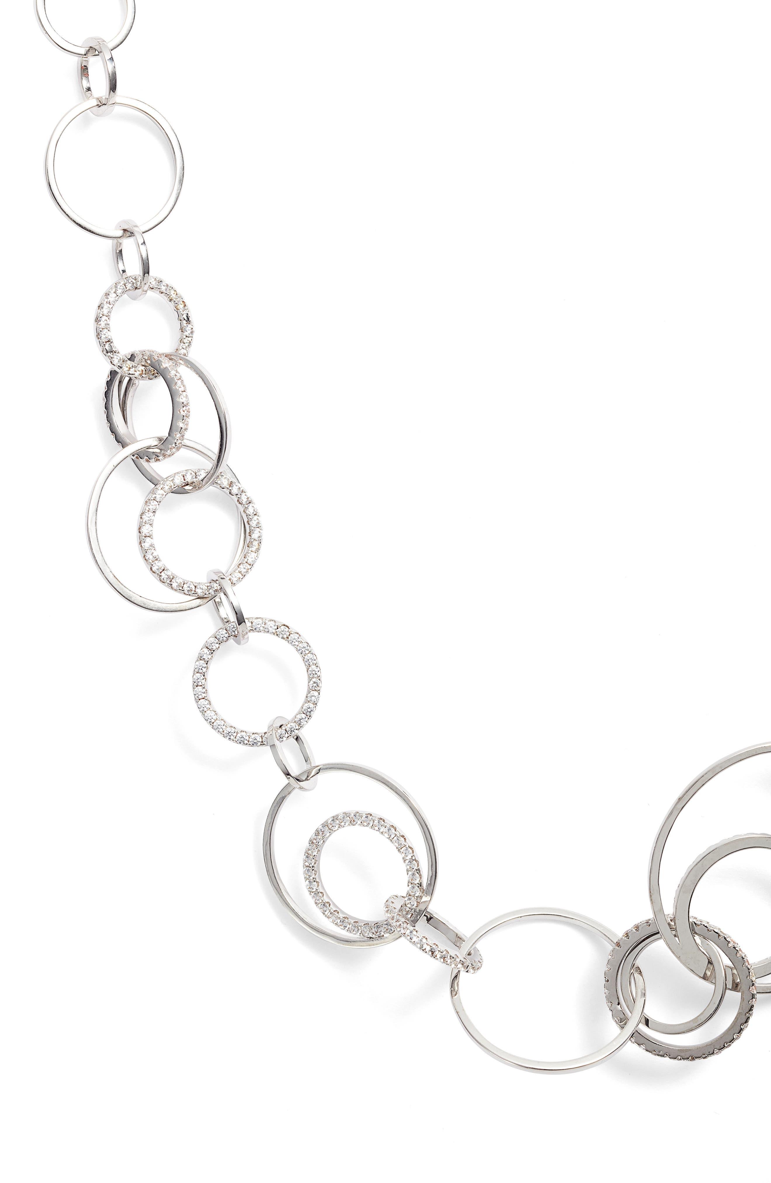 Sarah Cubic Zirconia Collar Necklace,                             Main thumbnail 1, color,                             041