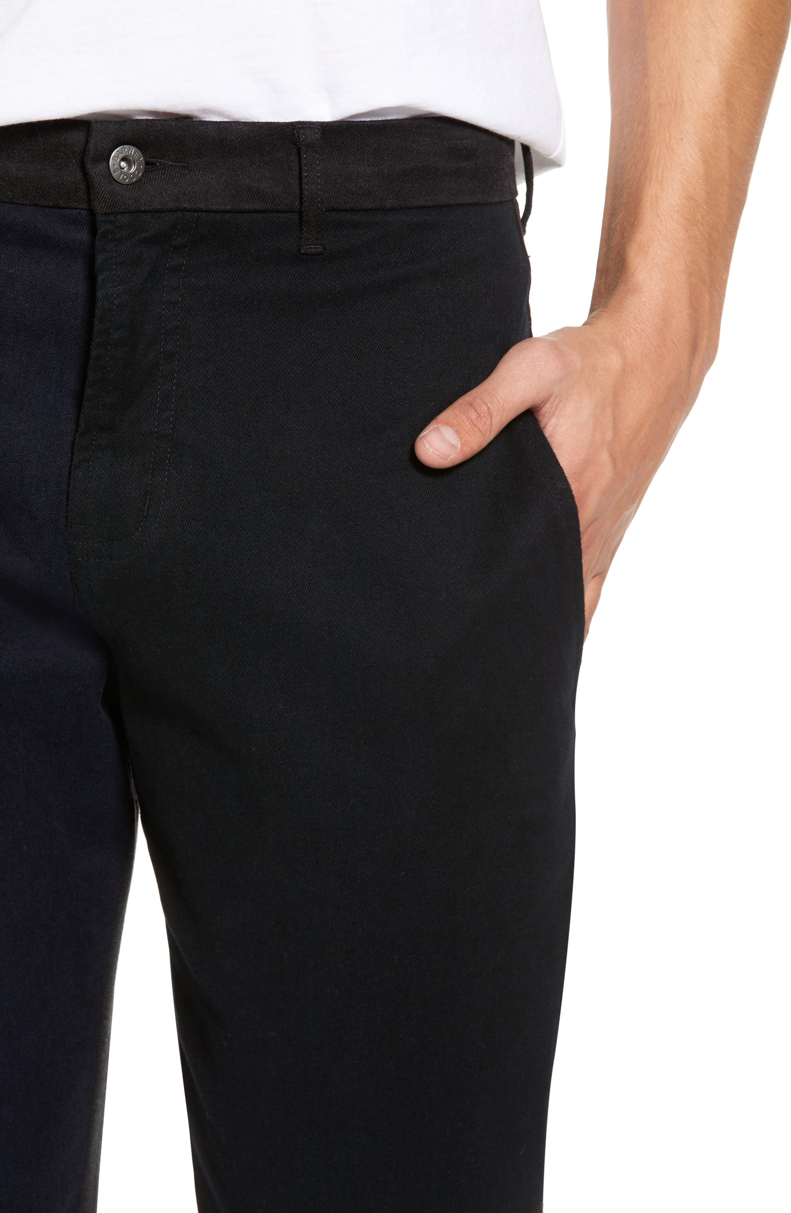 Chodus Crop Boxy Fit Chinos,                             Alternate thumbnail 4, color,                             001