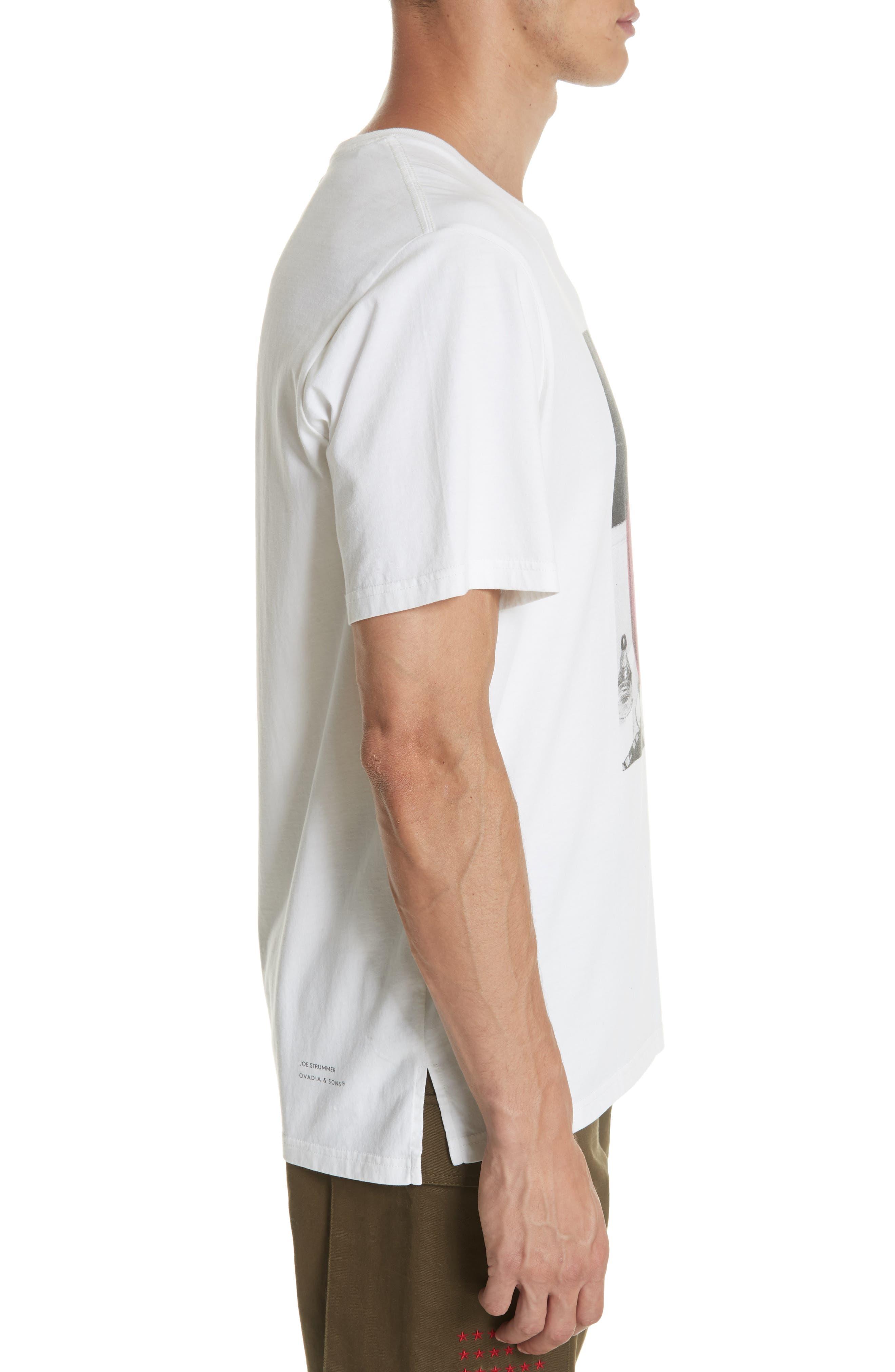 Joe Strummer Graphic T-Shirt,                             Alternate thumbnail 3, color,                             WHITE