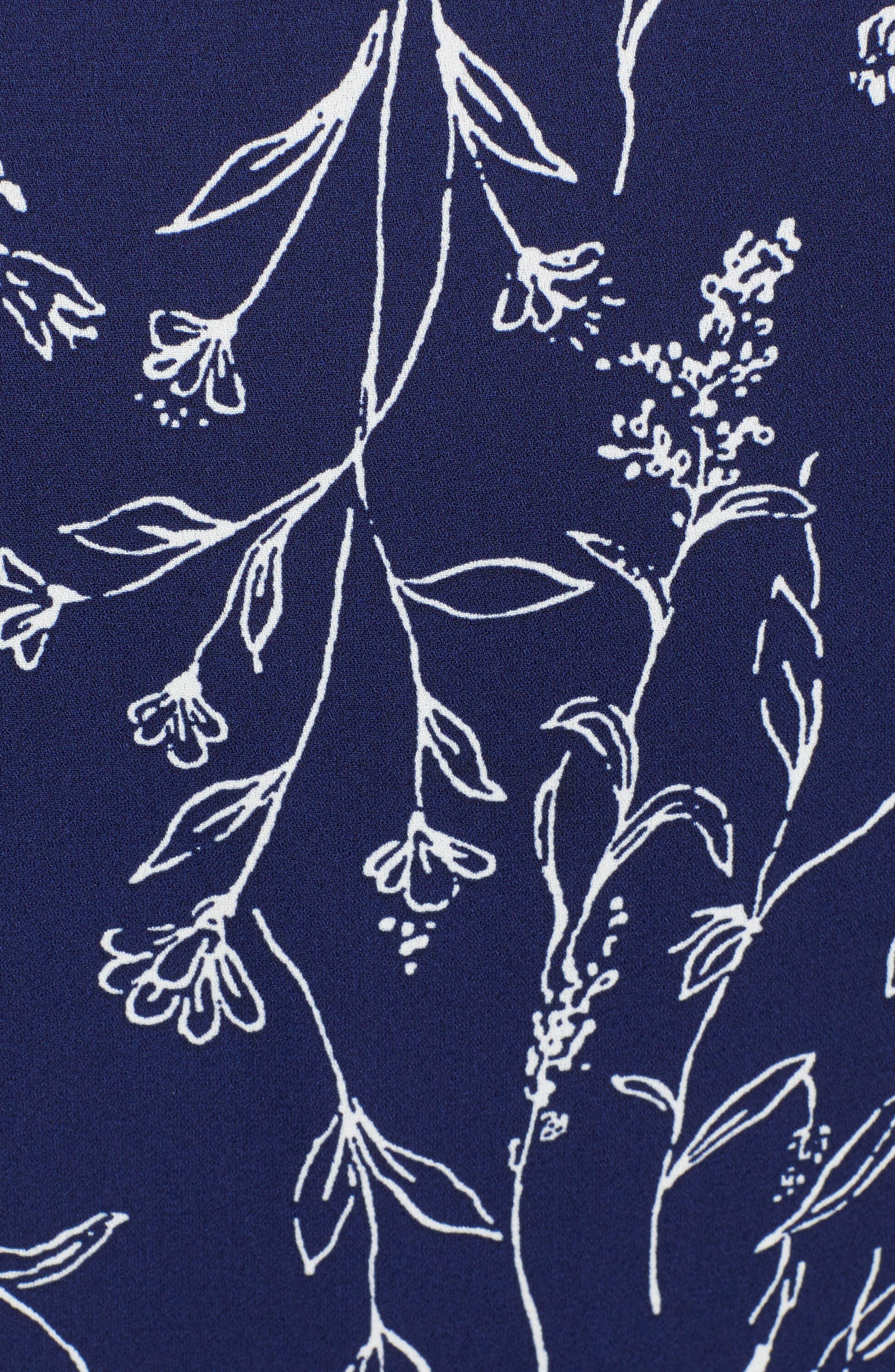 SPEECHLESS,                             Bell Cuff Wrap Minidress,                             Alternate thumbnail 6, color,                             NAVY/ IVORY