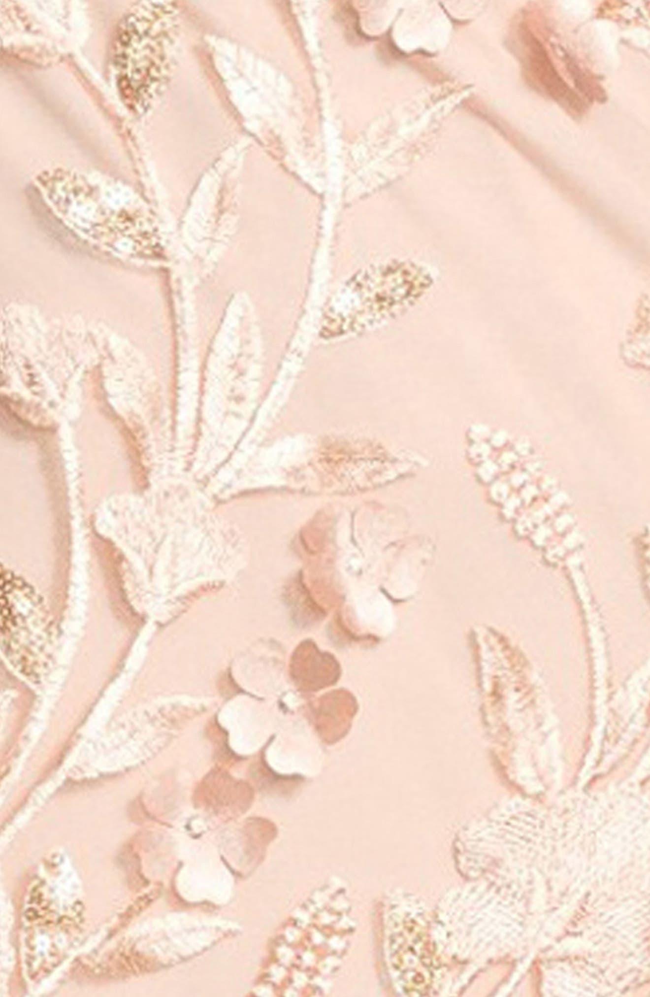 Petal Embellished Tulle Gown,                             Alternate thumbnail 5, color,                             684