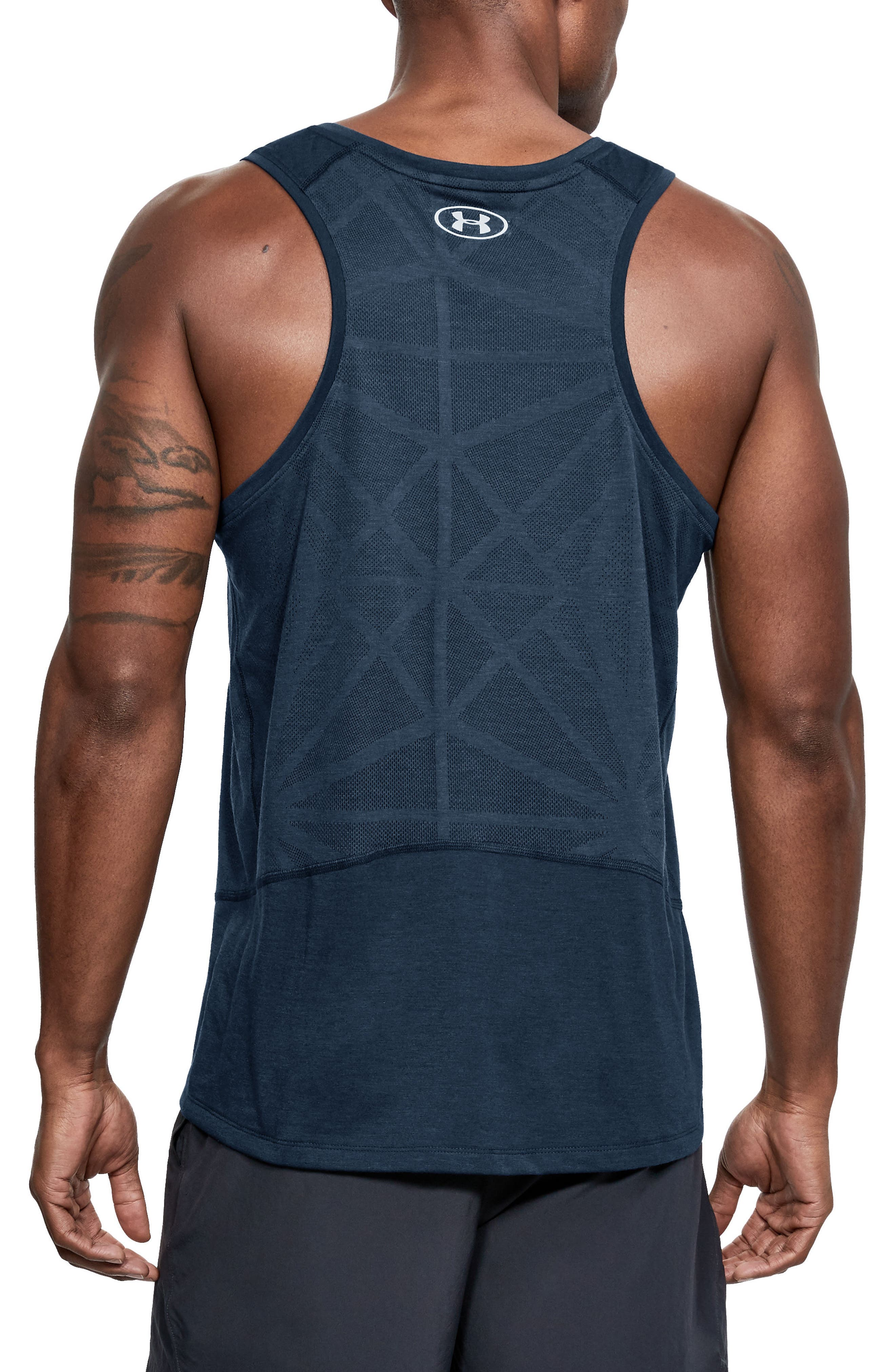 Threaborne Swyft Regular Fit Tank,                             Alternate thumbnail 2, color,                             ACADEMY/ STEEL/ REFLECTIVE