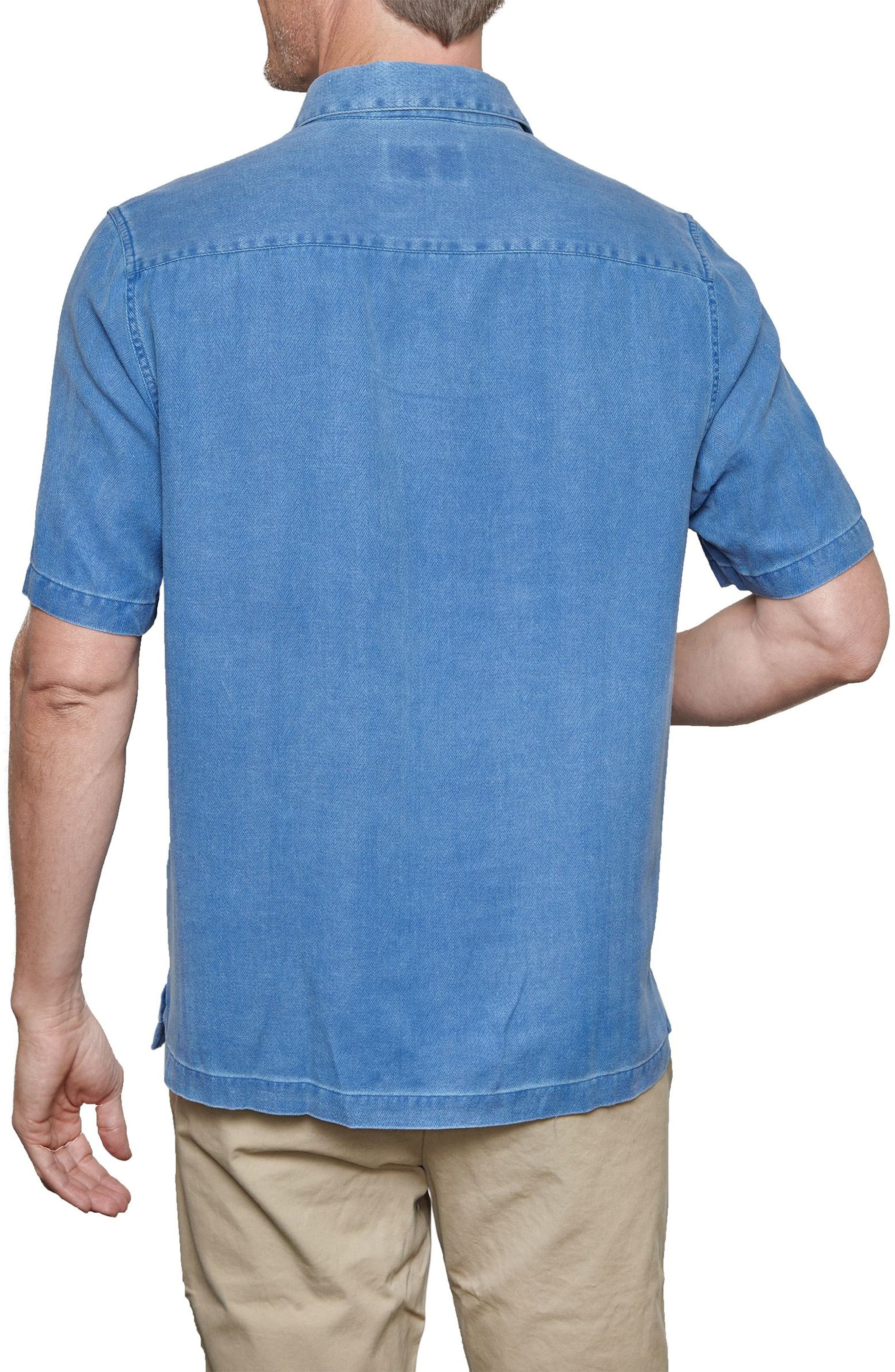 With a Twist Silk Blend Camp Shirt,                             Alternate thumbnail 8, color,