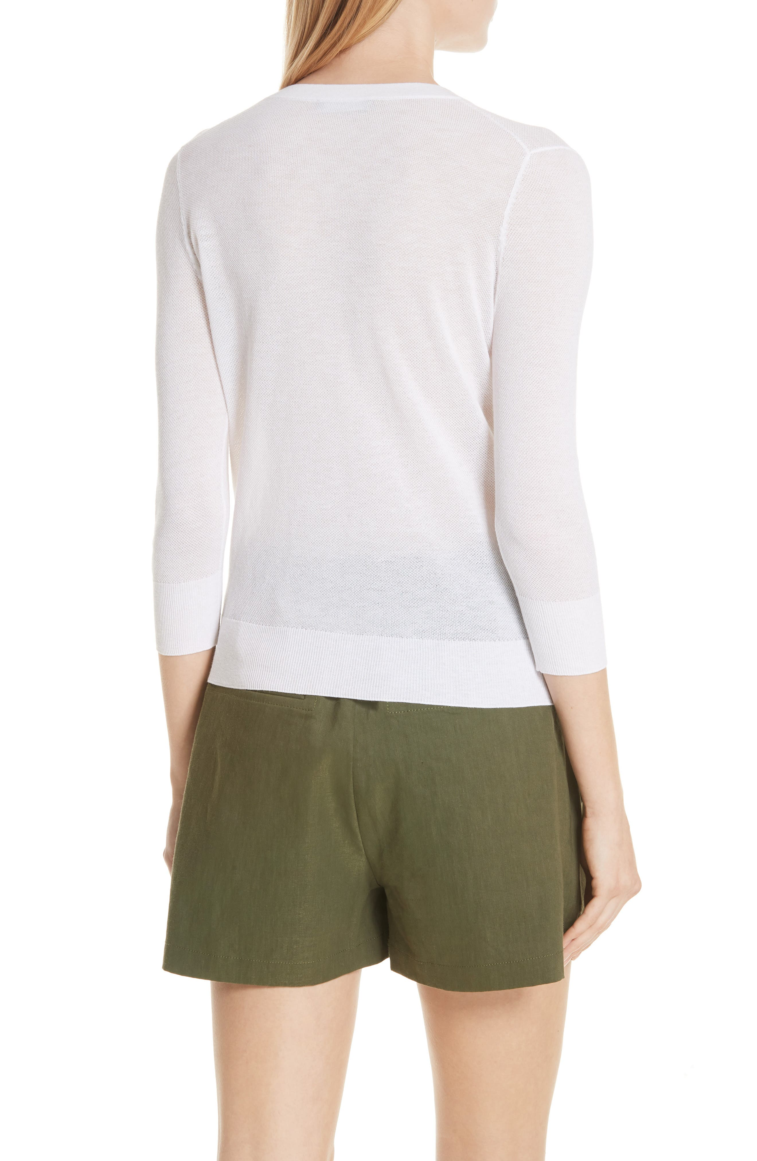 Textured Cotton Pullover Sweater,                             Alternate thumbnail 2, color,                             137