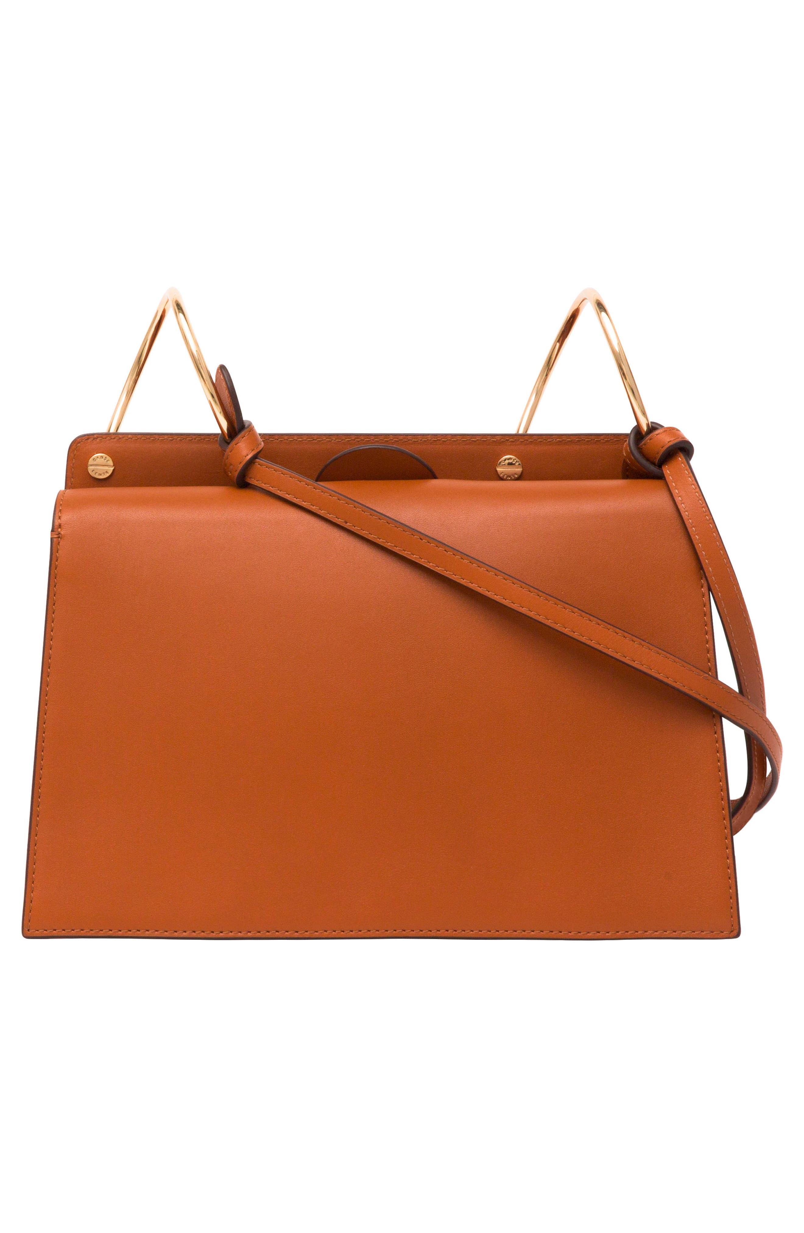 Phoebe Leather Crossbody Bag,                             Alternate thumbnail 4, color,                             SAND/ AMBER