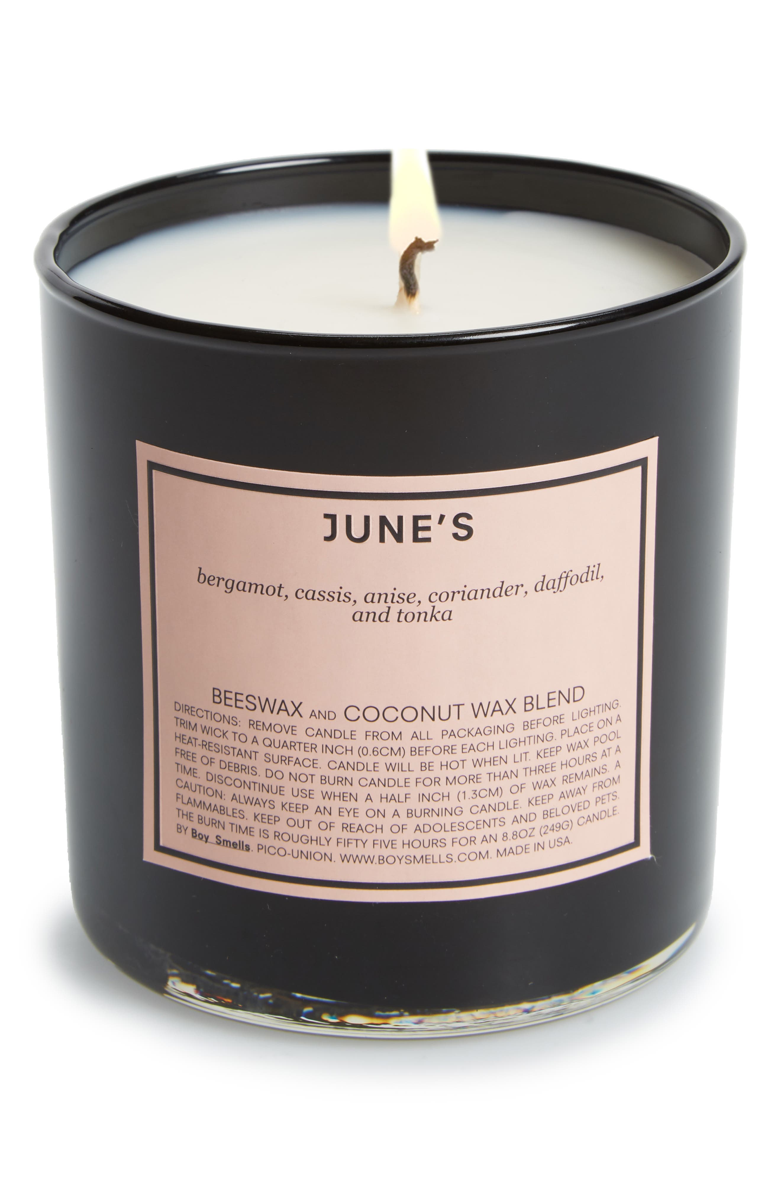 June's Scented Candle,                             Main thumbnail 1, color,                             PINK