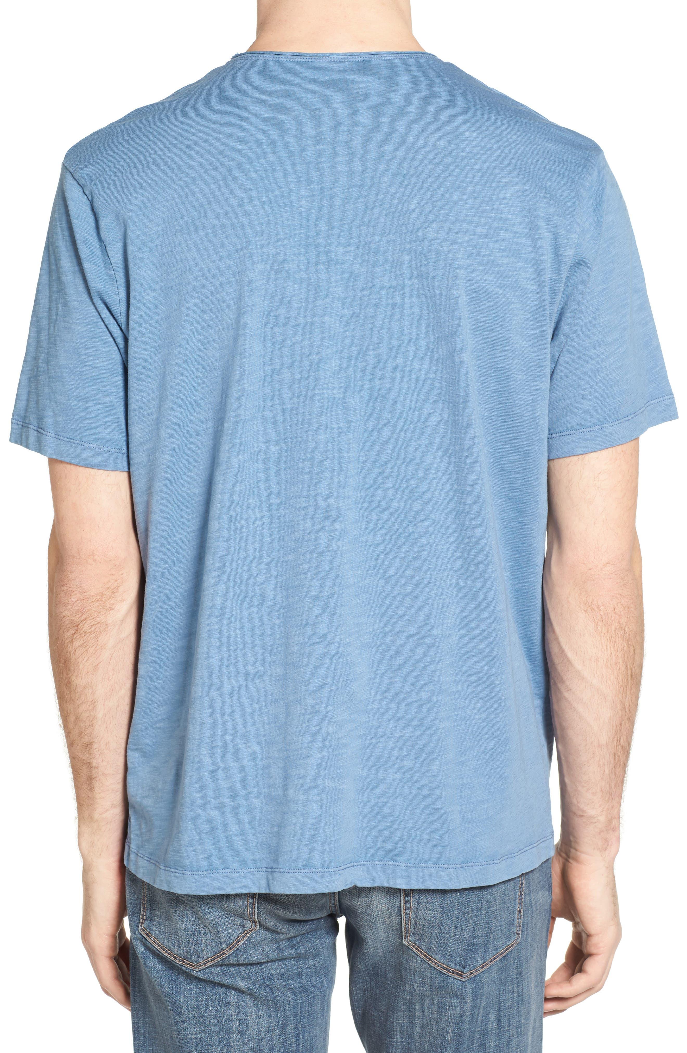 Raw Edge Slub T-Shirt,                             Alternate thumbnail 3, color,                             VINTAGE BLUE