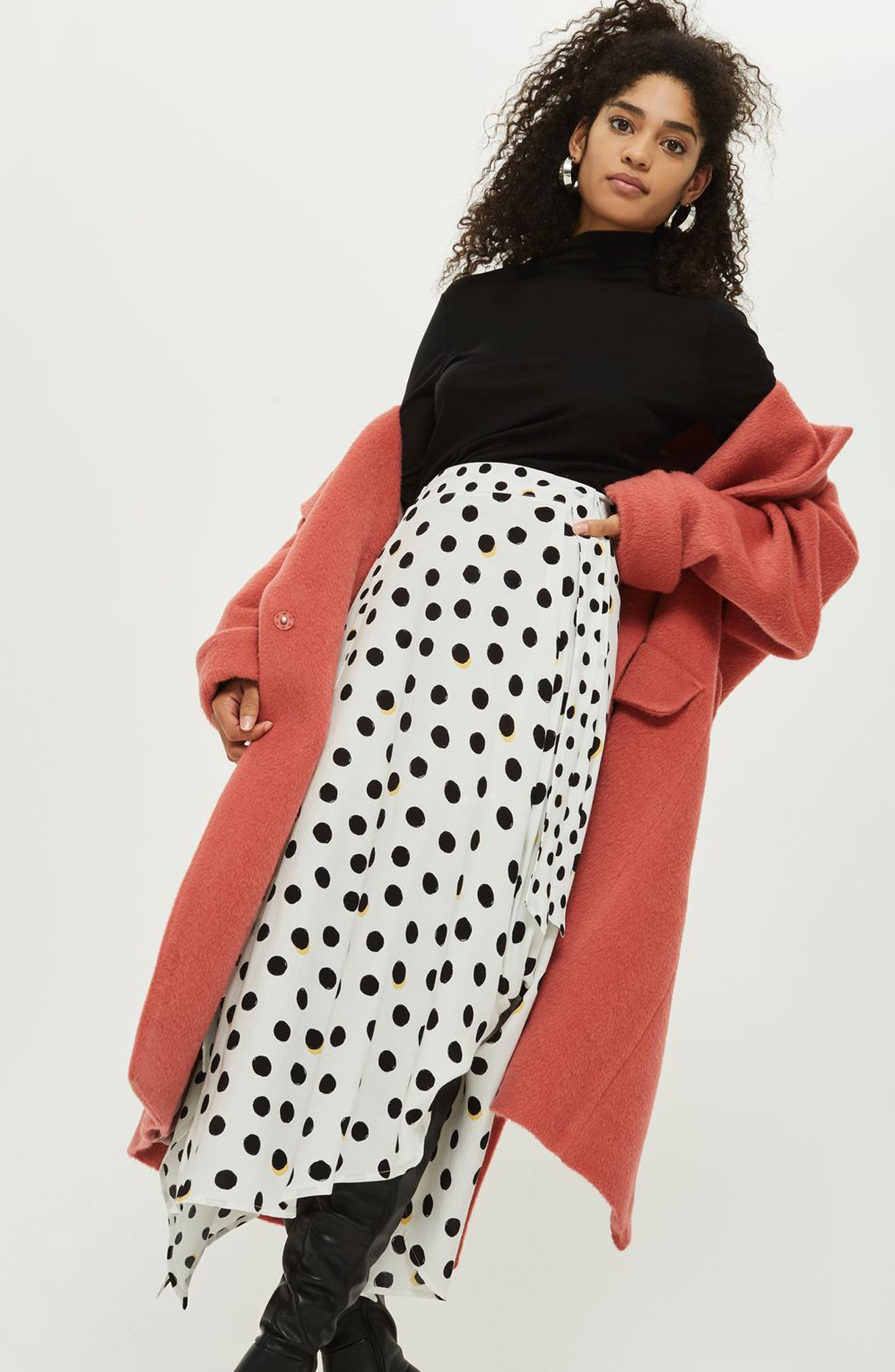 Polka Dot Handkerchief Hem Skirt,                             Alternate thumbnail 7, color,