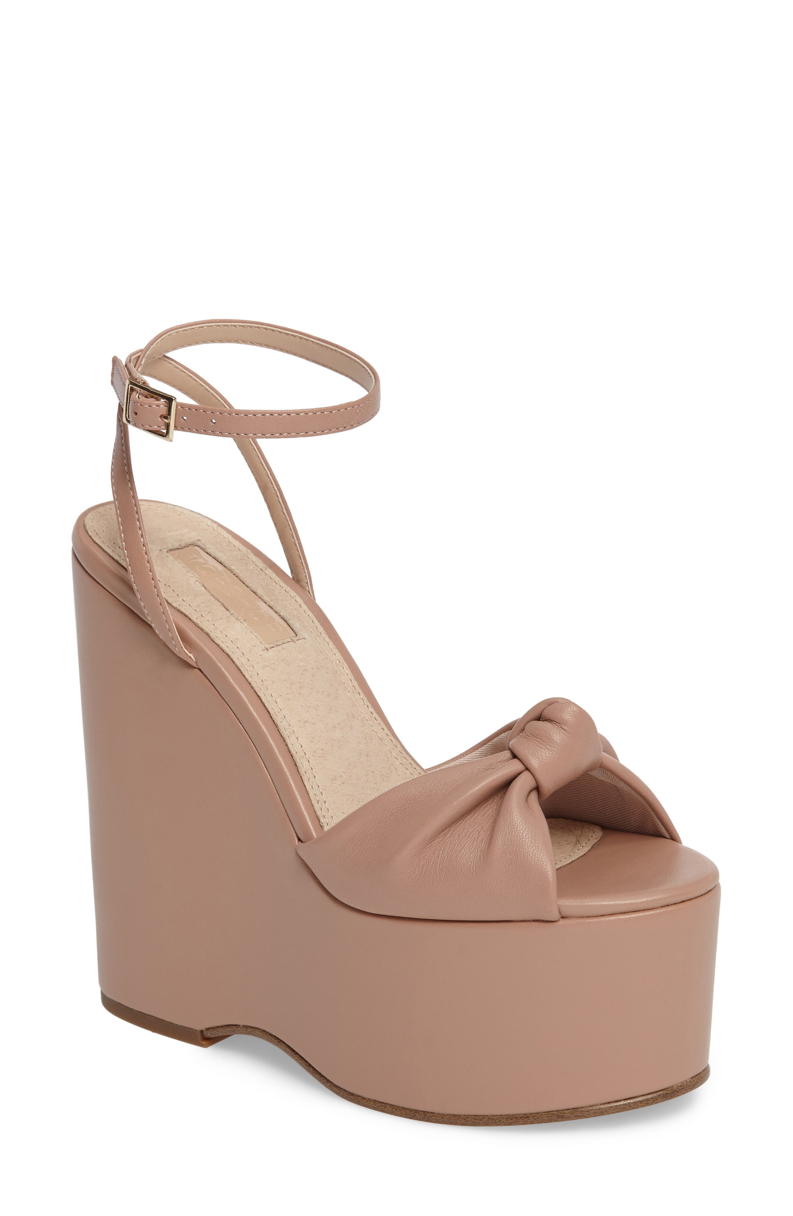 Waltz Knotted Platform Wedge,                             Main thumbnail 1, color,