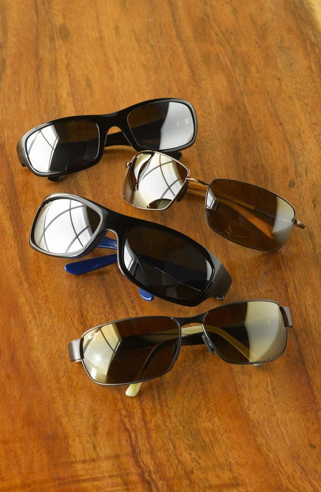 'Black Coral - PolarizedPlus<sup>®</sup>2' 65mm Sunglasses,                             Alternate thumbnail 2, color,                             MATTE BLACK