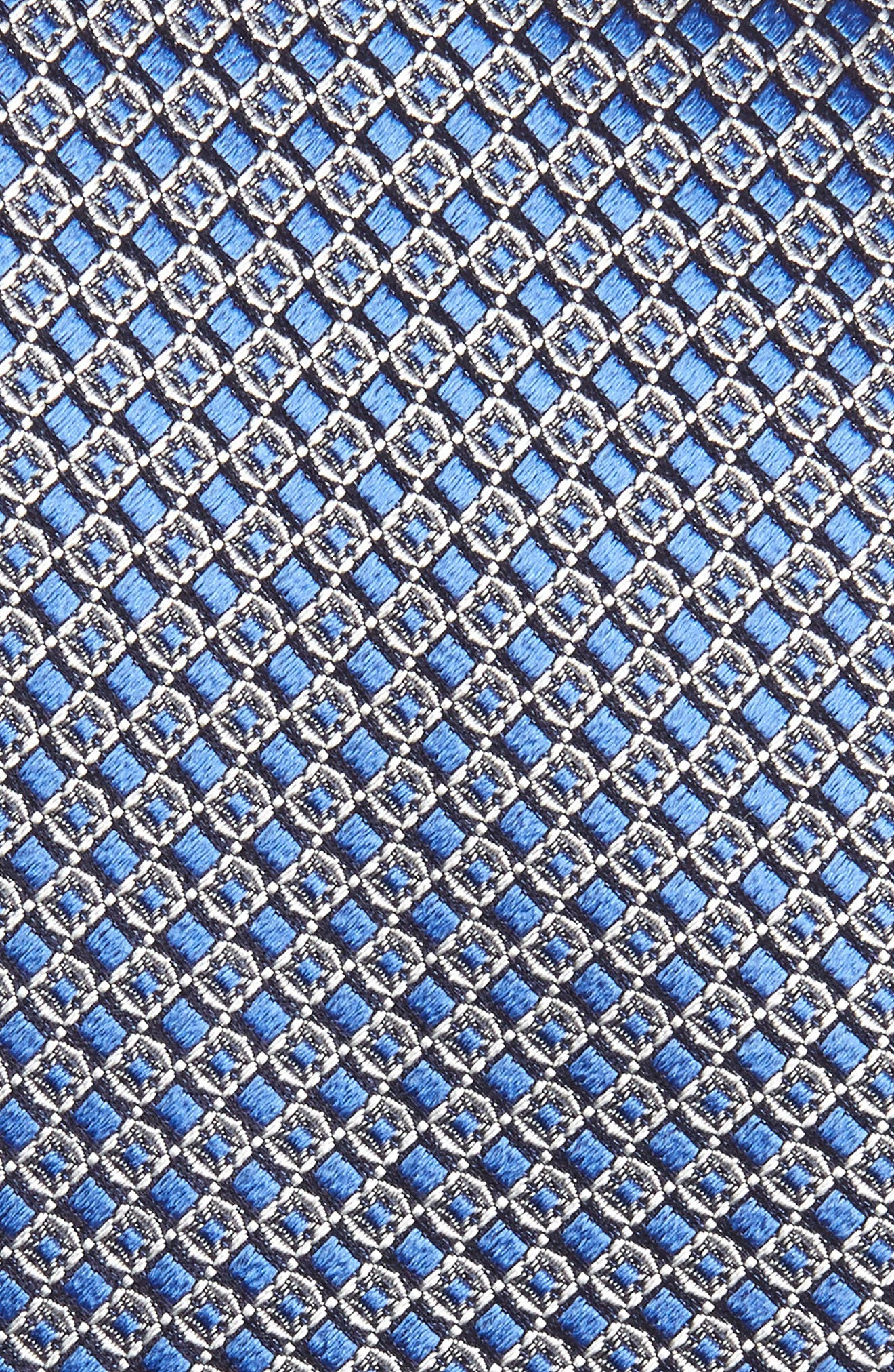 Geometric Silk Tie,                             Alternate thumbnail 2, color,                             MEDIUM BLUE