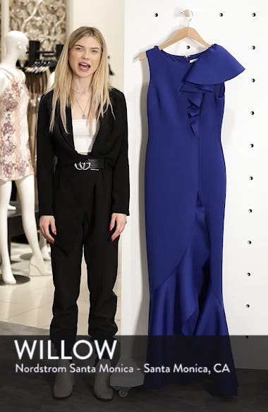 Asymmetric Ruffle Gown, sales video thumbnail