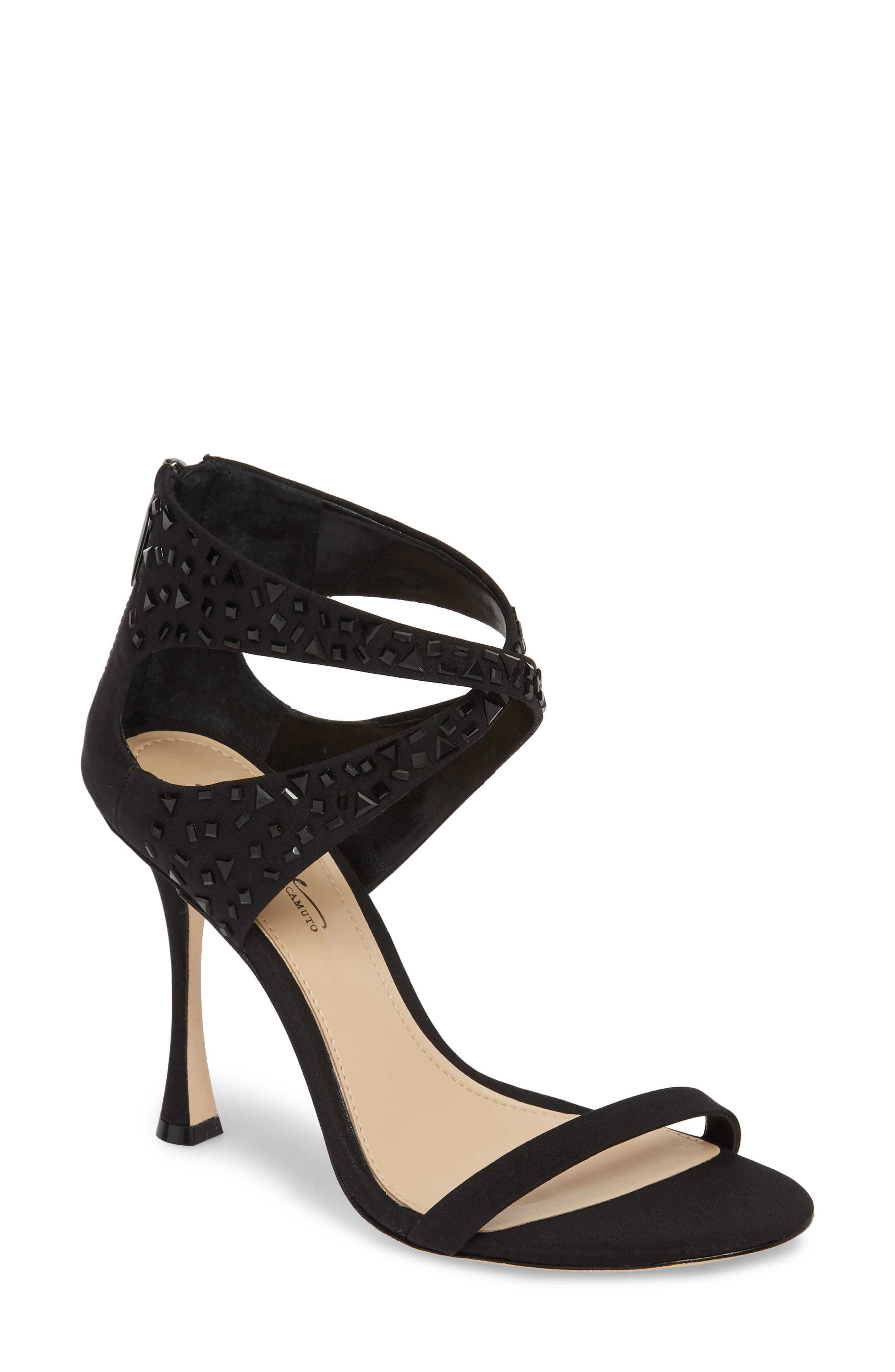 Ramel Sandal,                         Main,                         color, BLACK FABRIC
