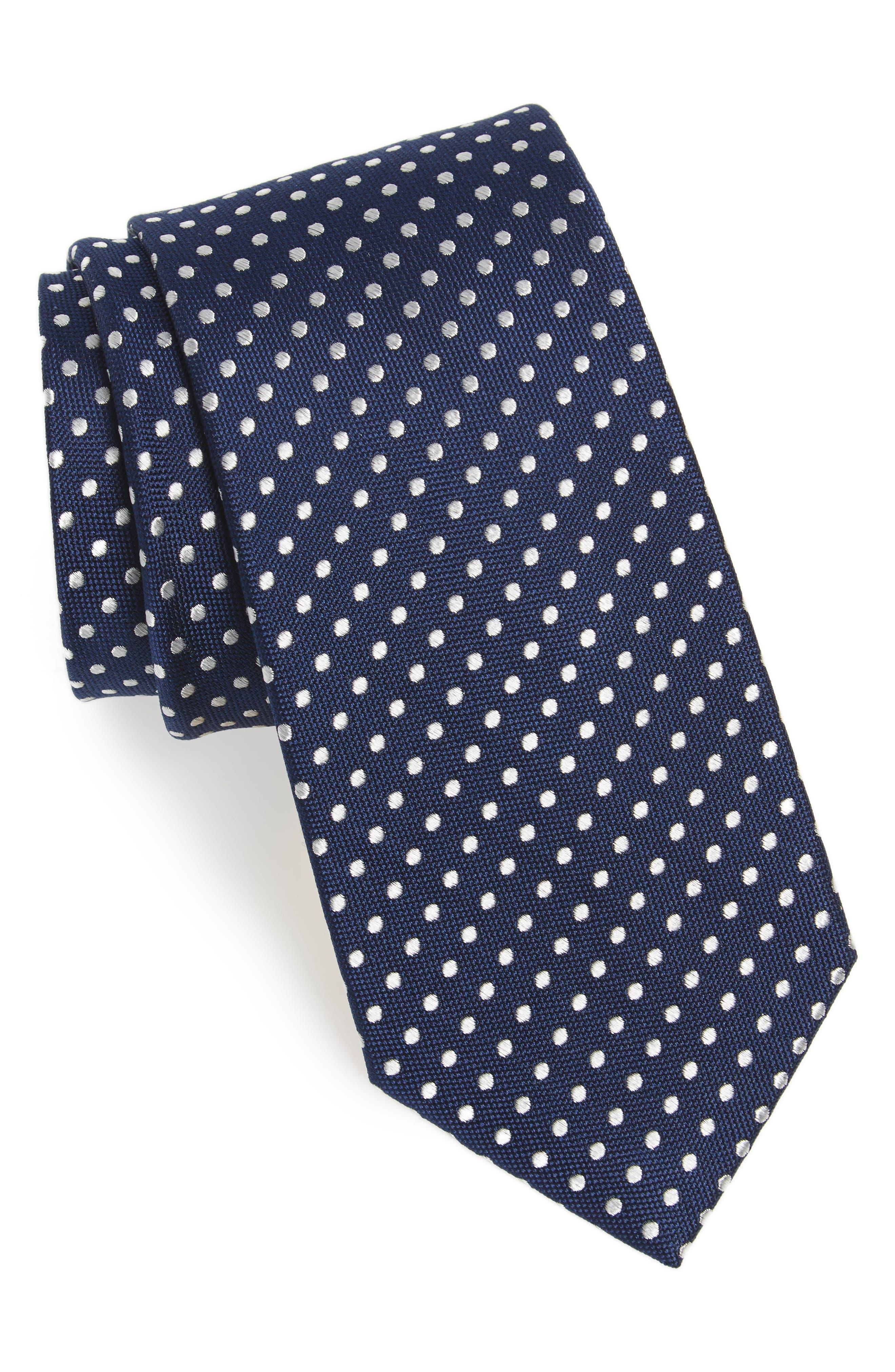 Norton Dot Silk Tie,                             Main thumbnail 1, color,