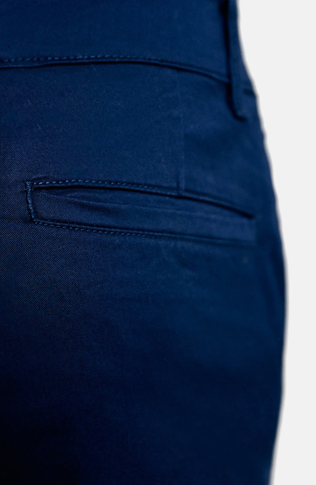 Stretch Skinny Fit Chinos,                             Alternate thumbnail 5, color,                             DARK BLUE