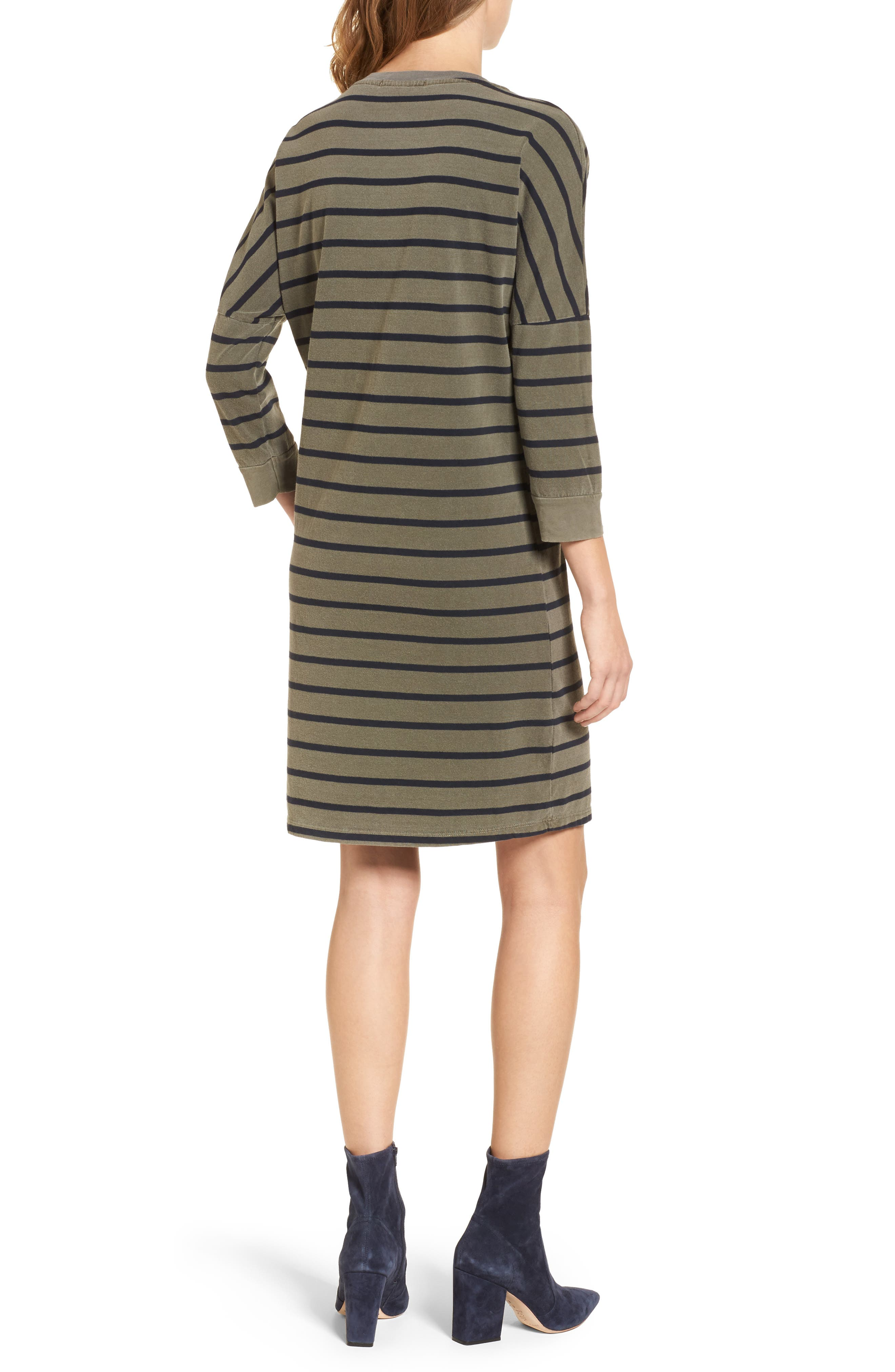 Stripe T-Shirt Dress,                             Alternate thumbnail 2, color,                             300