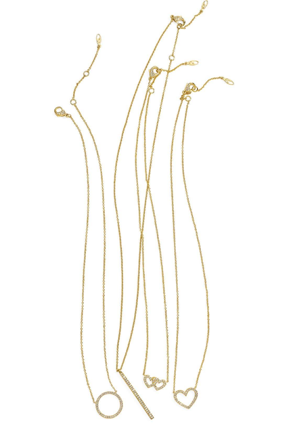 Circle Pendant Necklace,                             Alternate thumbnail 5, color,                             GOLD