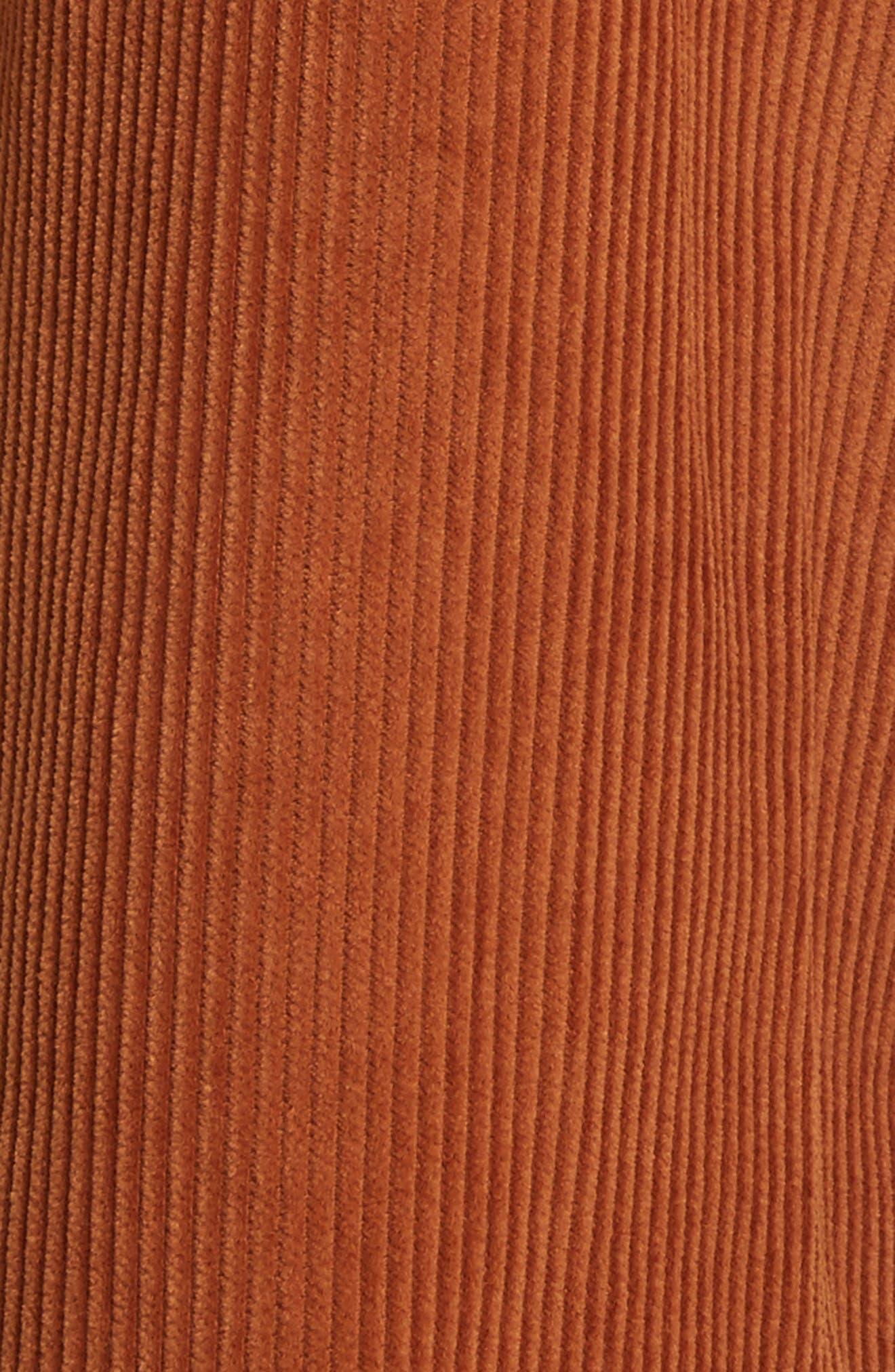 Crop Flare Corduroy Trousers,                             Alternate thumbnail 5, color,                             200