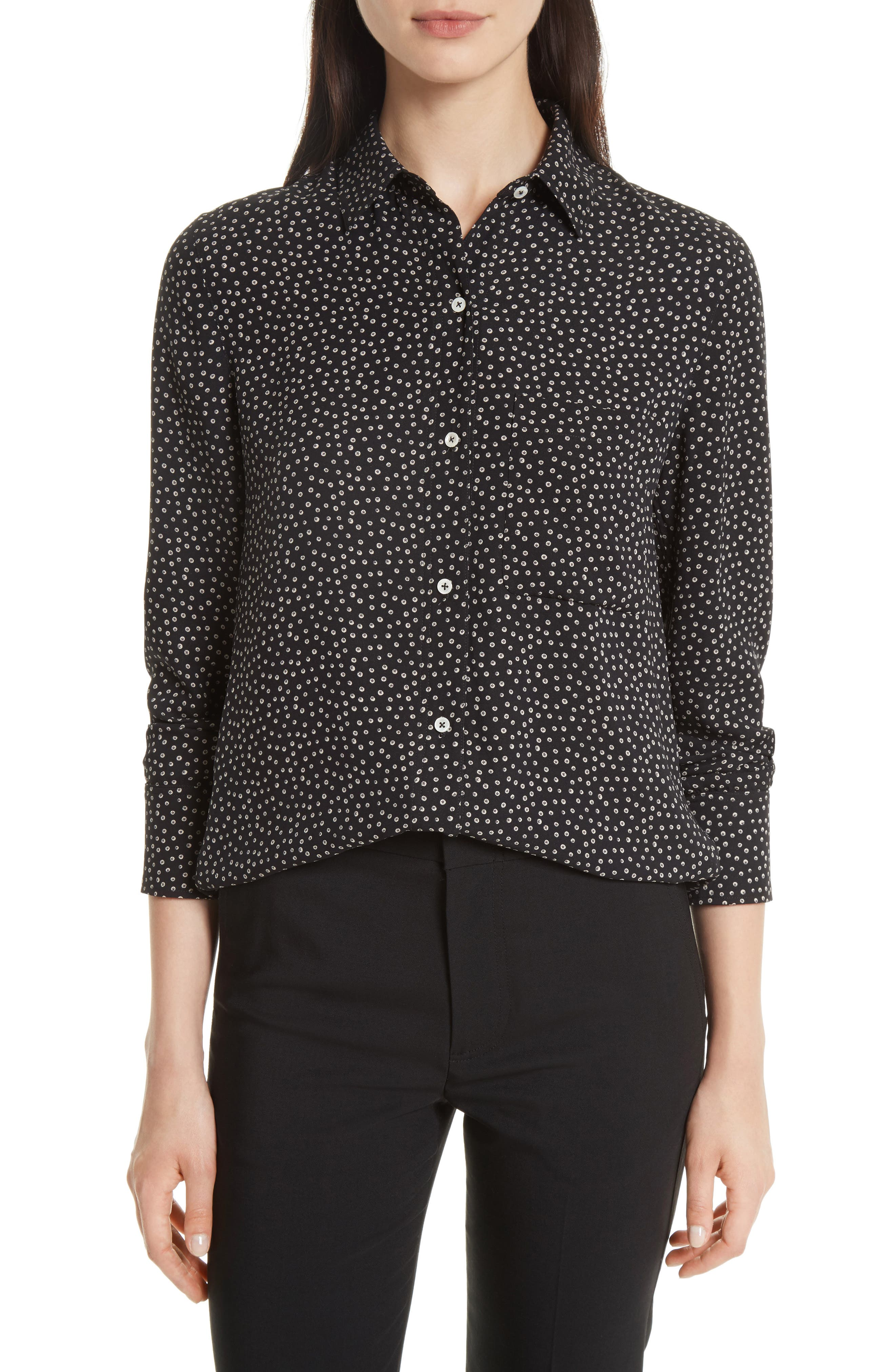 Celestial Polka Dot Slim Shirt,                             Main thumbnail 1, color,                             005