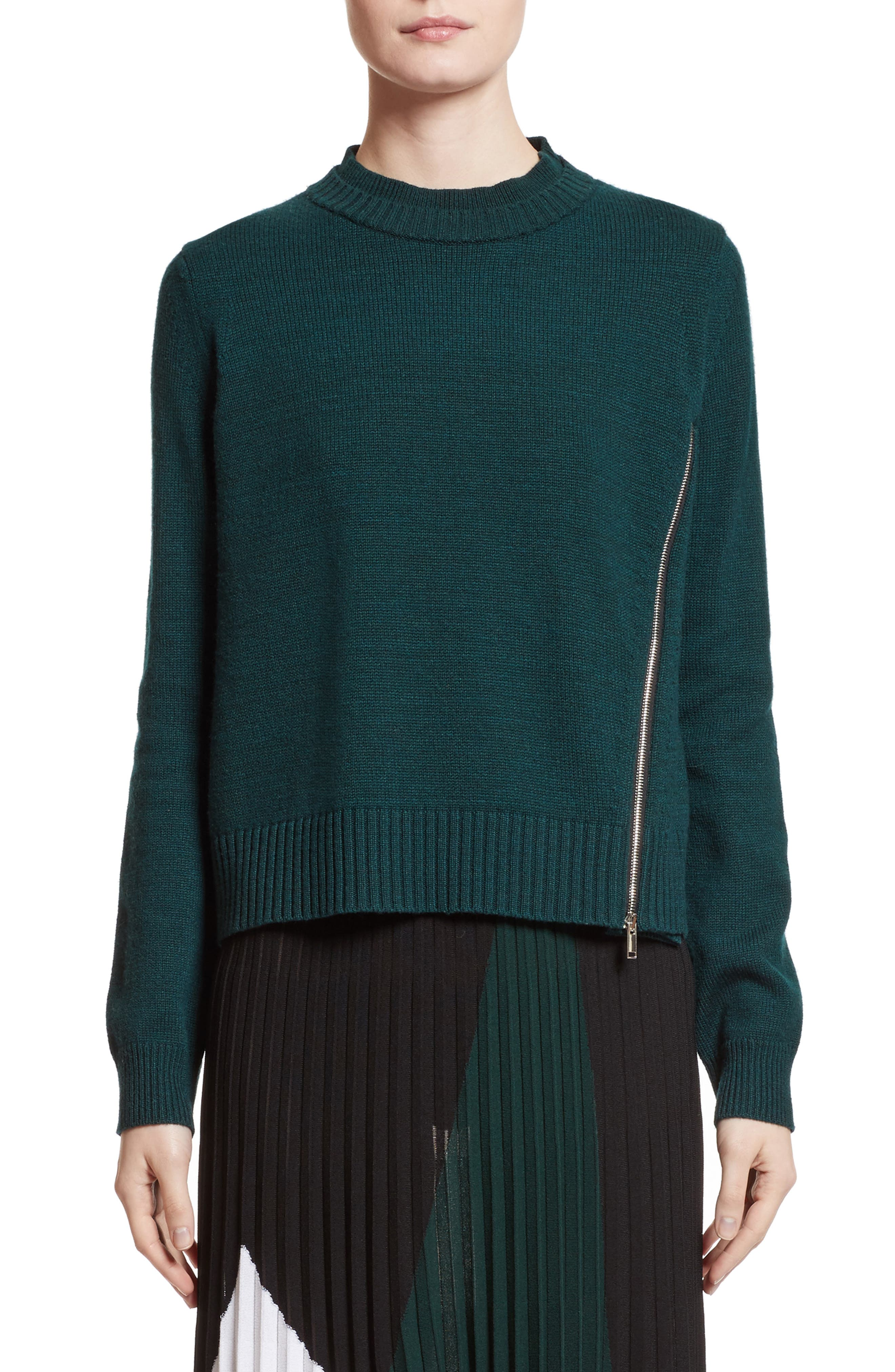 Wool, Silk & Cashmere Pullover,                         Main,                         color,