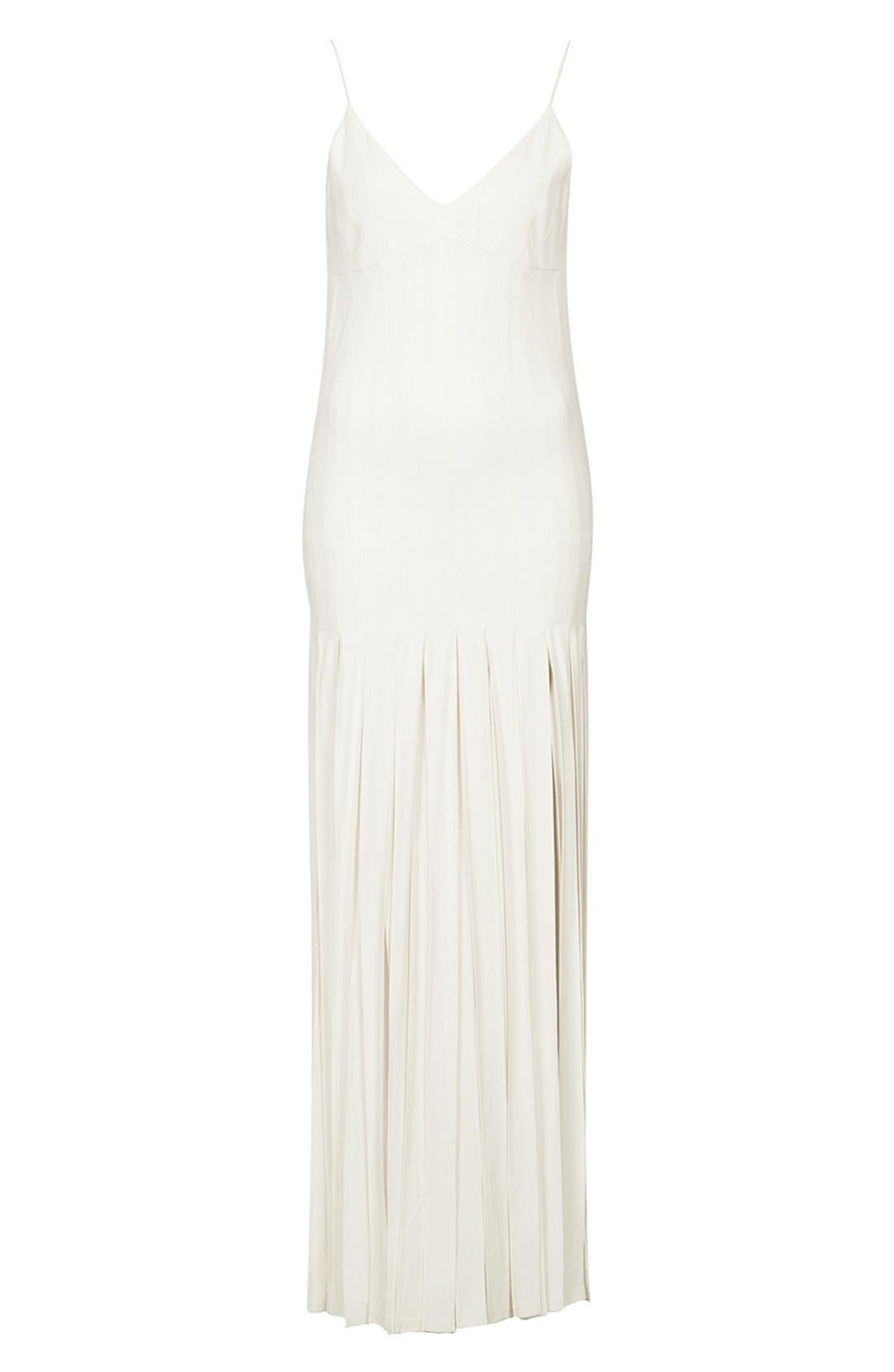 Kate Moss for Topshop Splice Skirt Maxi Dress,                             Alternate thumbnail 6, color,