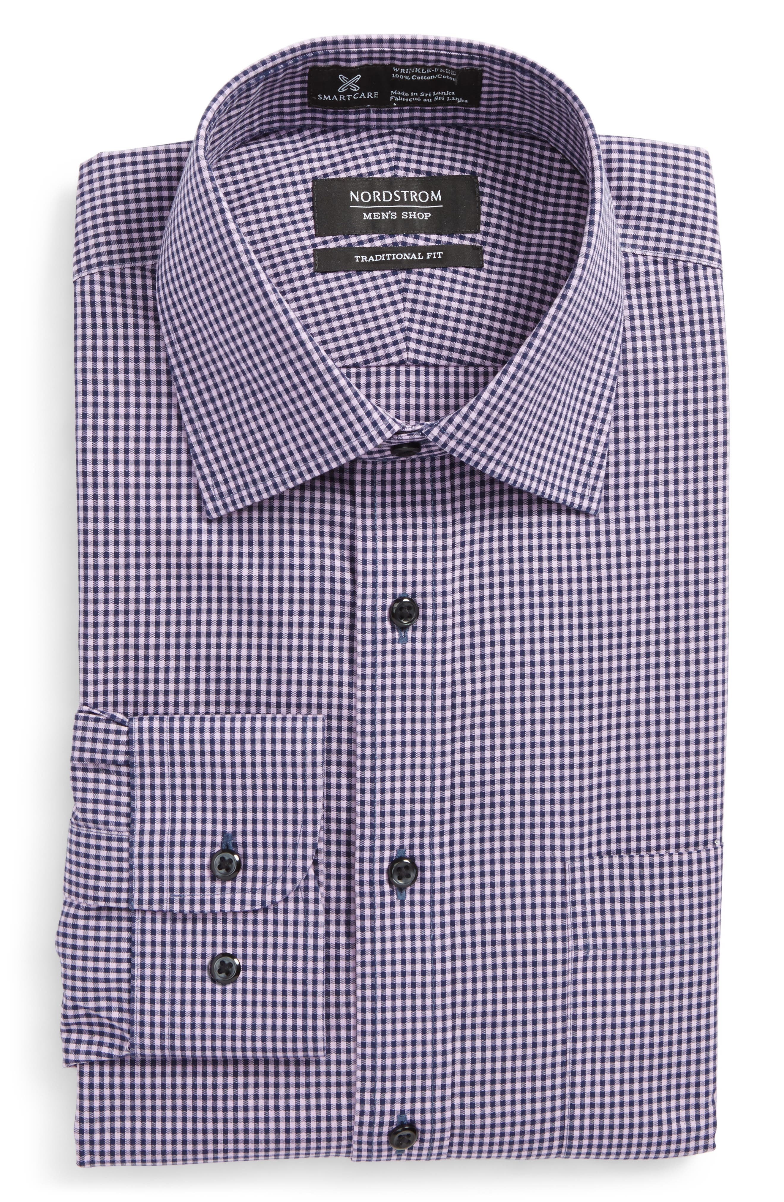 Smartcare<sup>™</sup> Traditional Fit Check Dress Shirt,                             Main thumbnail 3, color,
