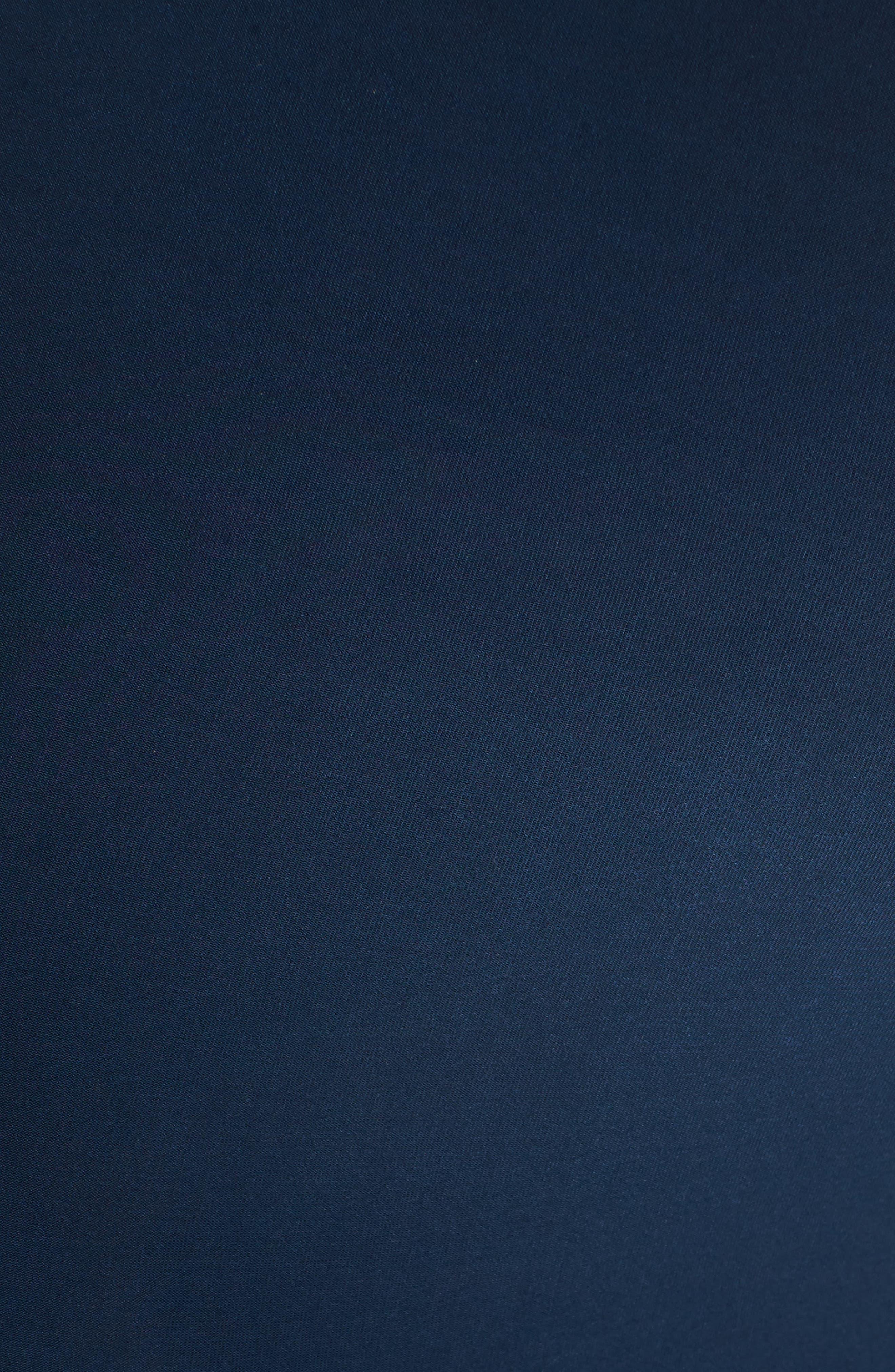 'Carla' Knot Front Jersey Maternity Dress,                             Alternate thumbnail 5, color,                             DARKEST NAVY