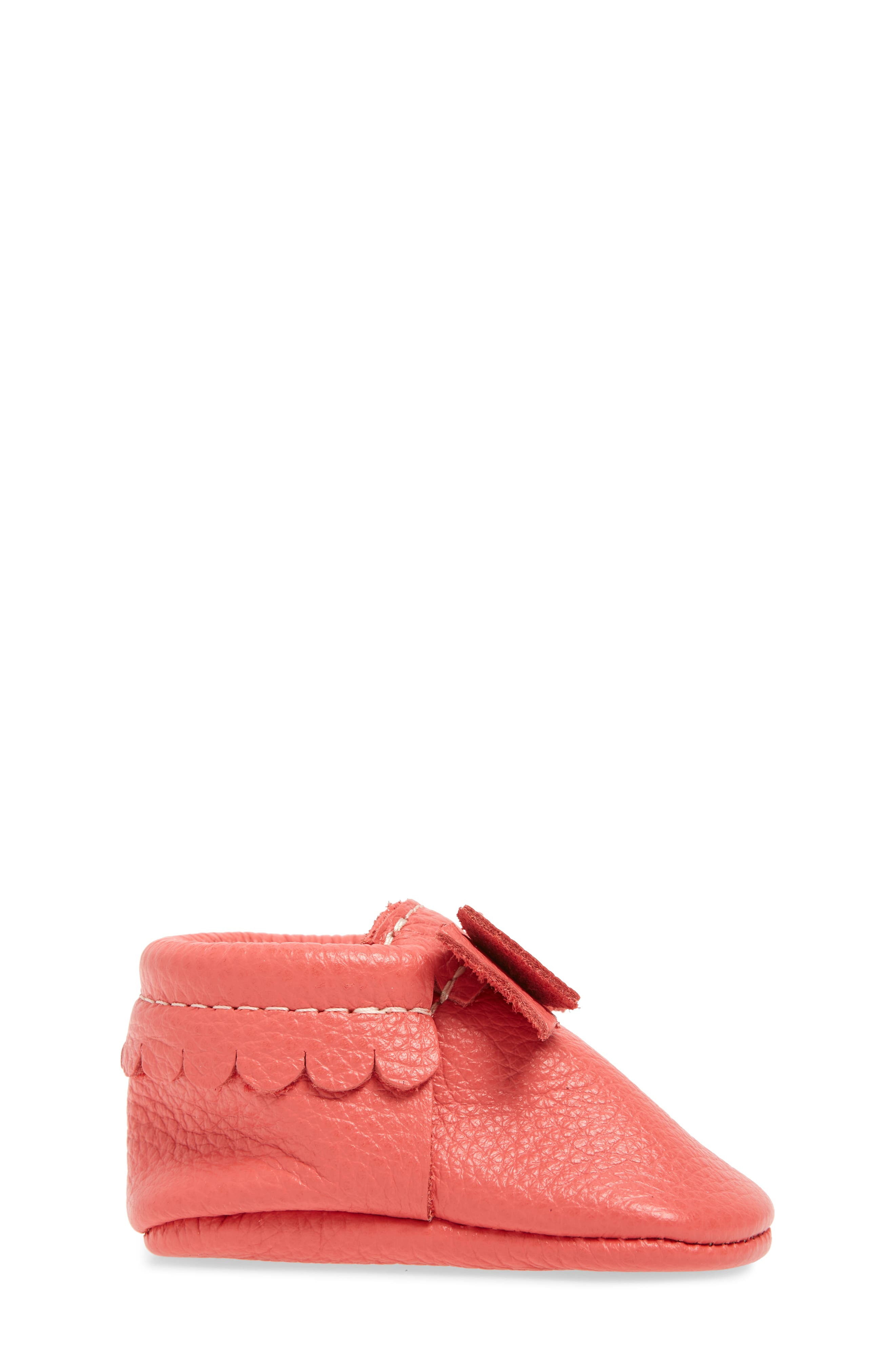 Metallic Bow Moccasin,                             Alternate thumbnail 3, color,                             PINK LEATHER