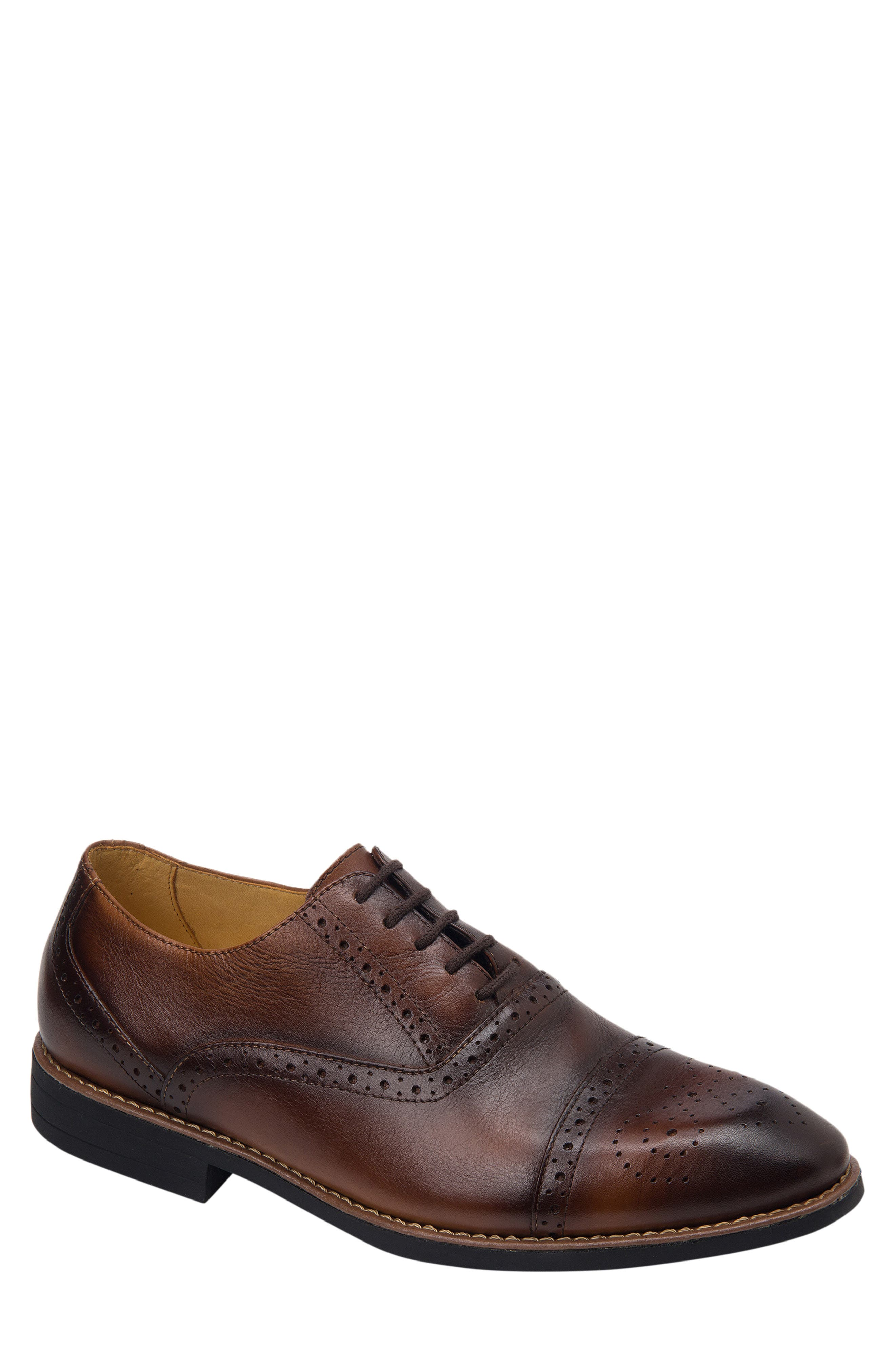 SANDRO MOSCOLONI,                             Murali Cap Toe Oxford,                             Main thumbnail 1, color,                             BROWN LEATHER