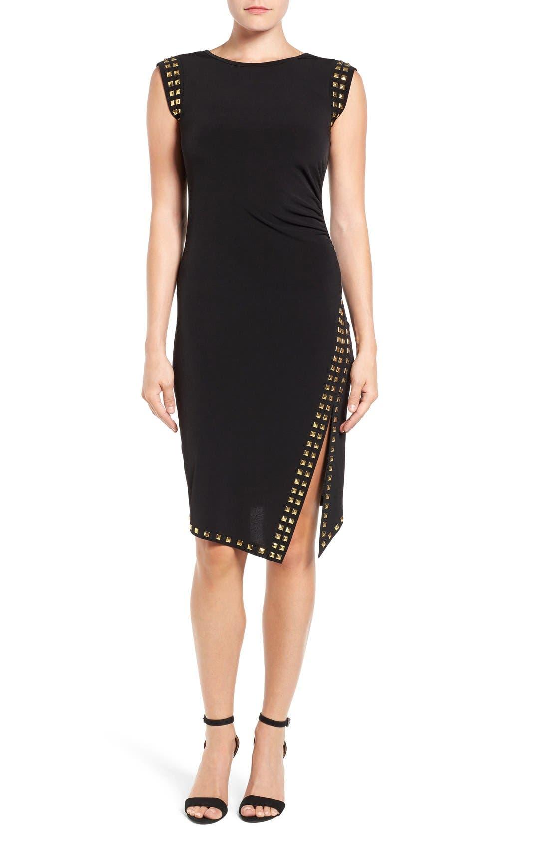Studded Sheath Dress,                         Main,                         color,