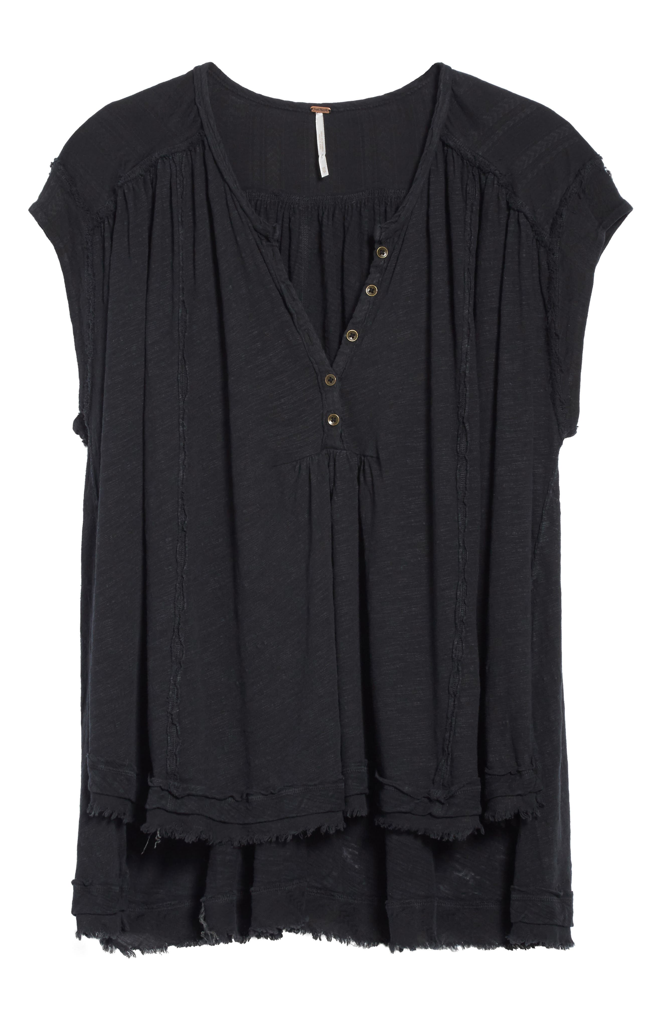 We the Free by Free People Aster Henley Top,                             Alternate thumbnail 6, color,                             001